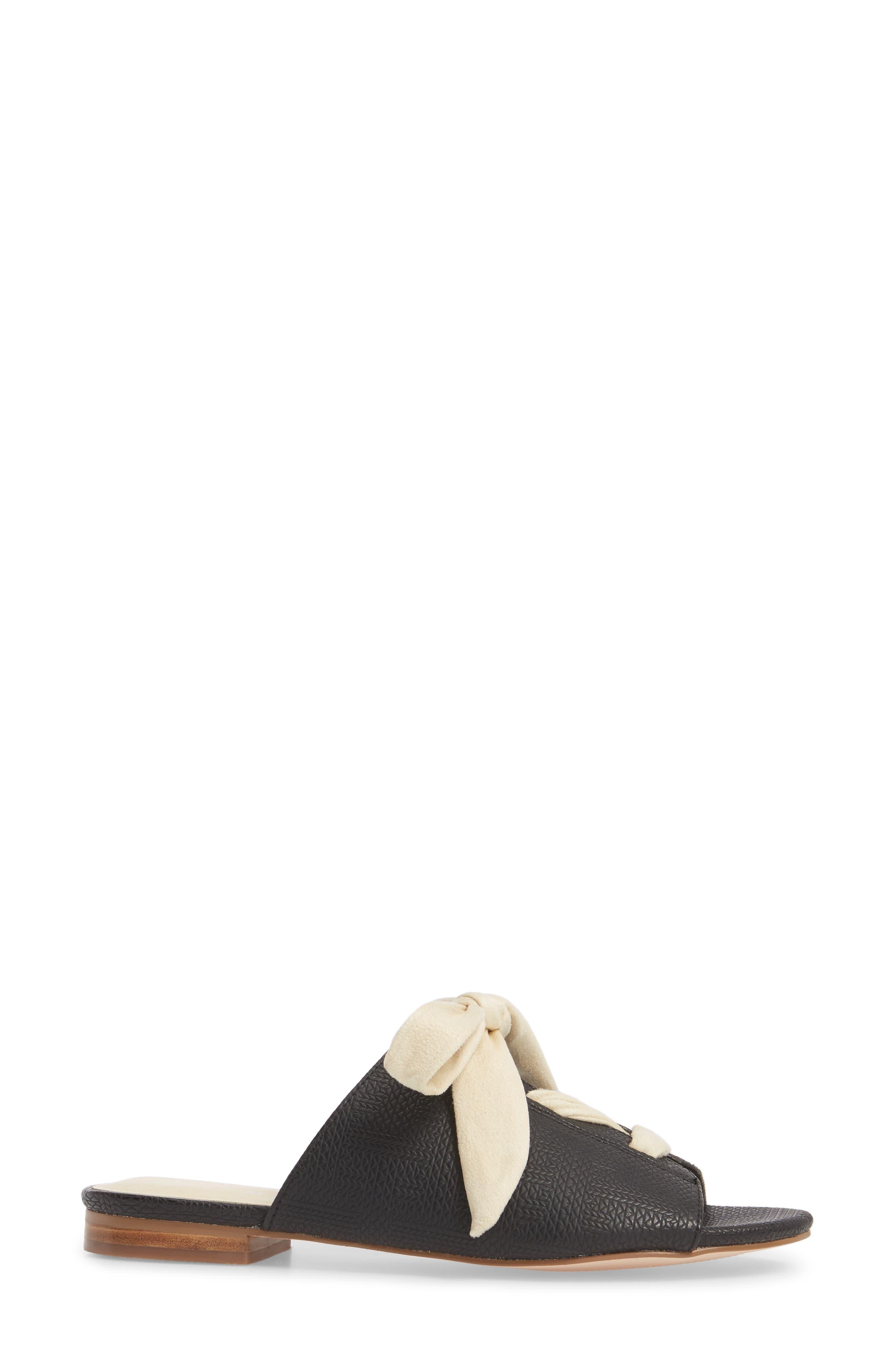 Santorini Sandal,                             Alternate thumbnail 3, color,                             Black