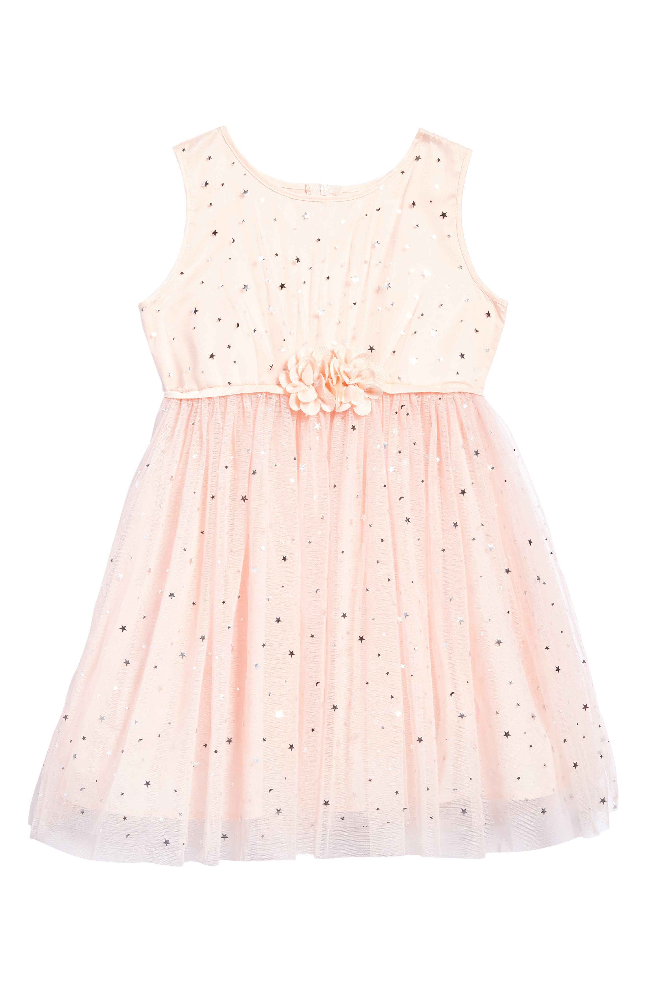 Star Tulle Dress,                         Main,                         color, Pink