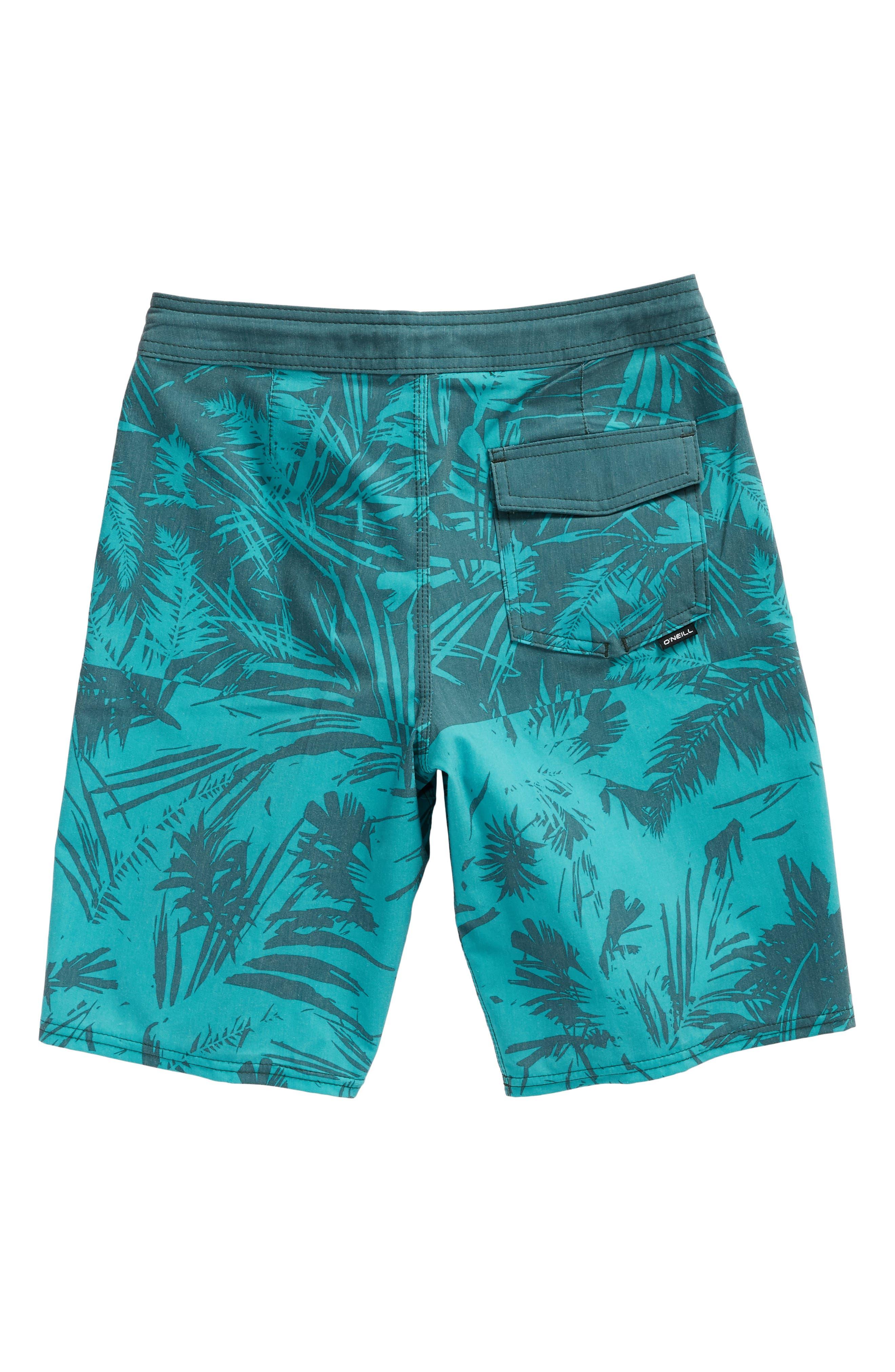 Inverted Cruzer Board Shorts,                             Alternate thumbnail 4, color,                             Aqua