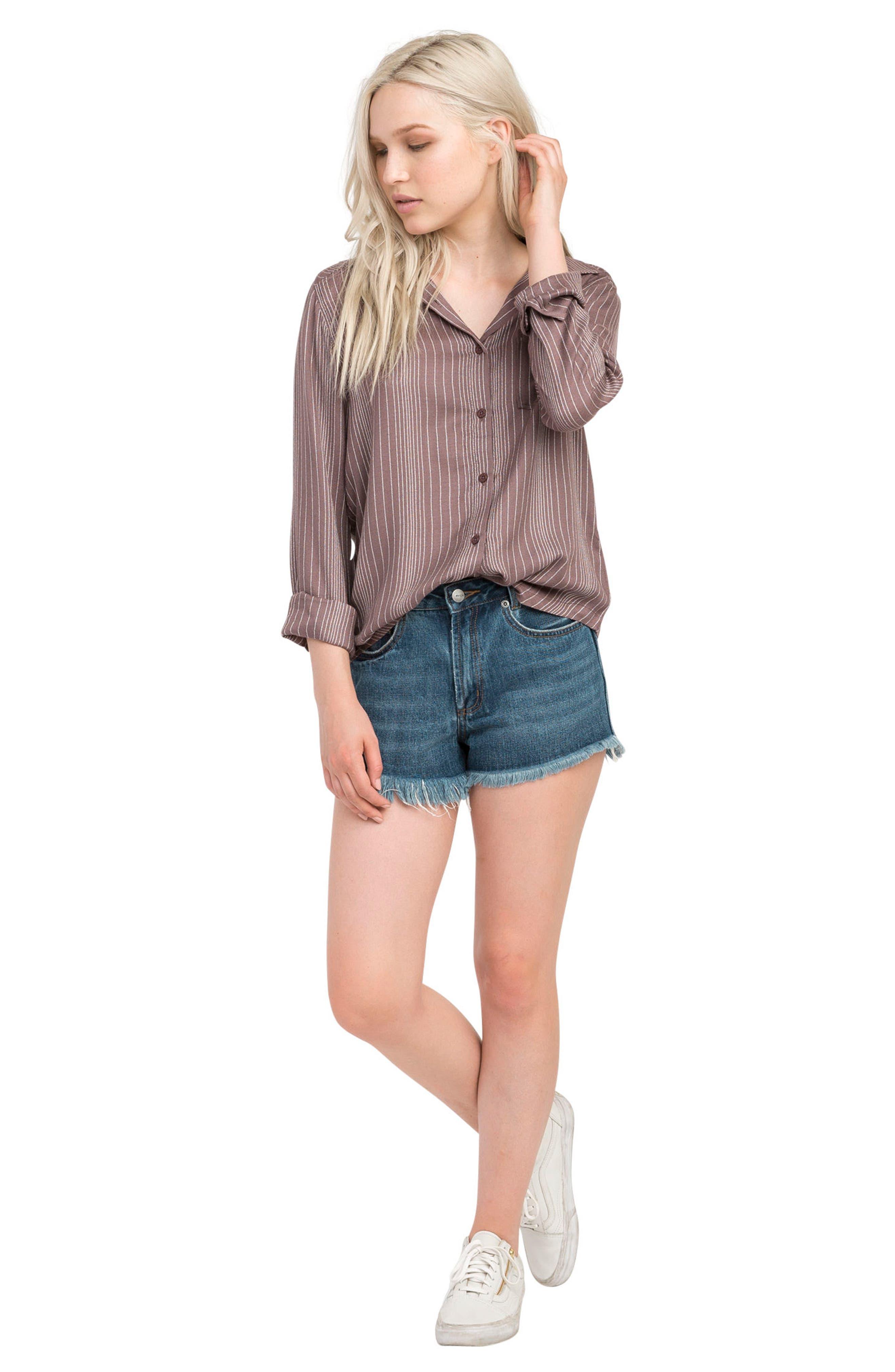 Alternate Image 2  - RVCA Denver Button Front Shirt