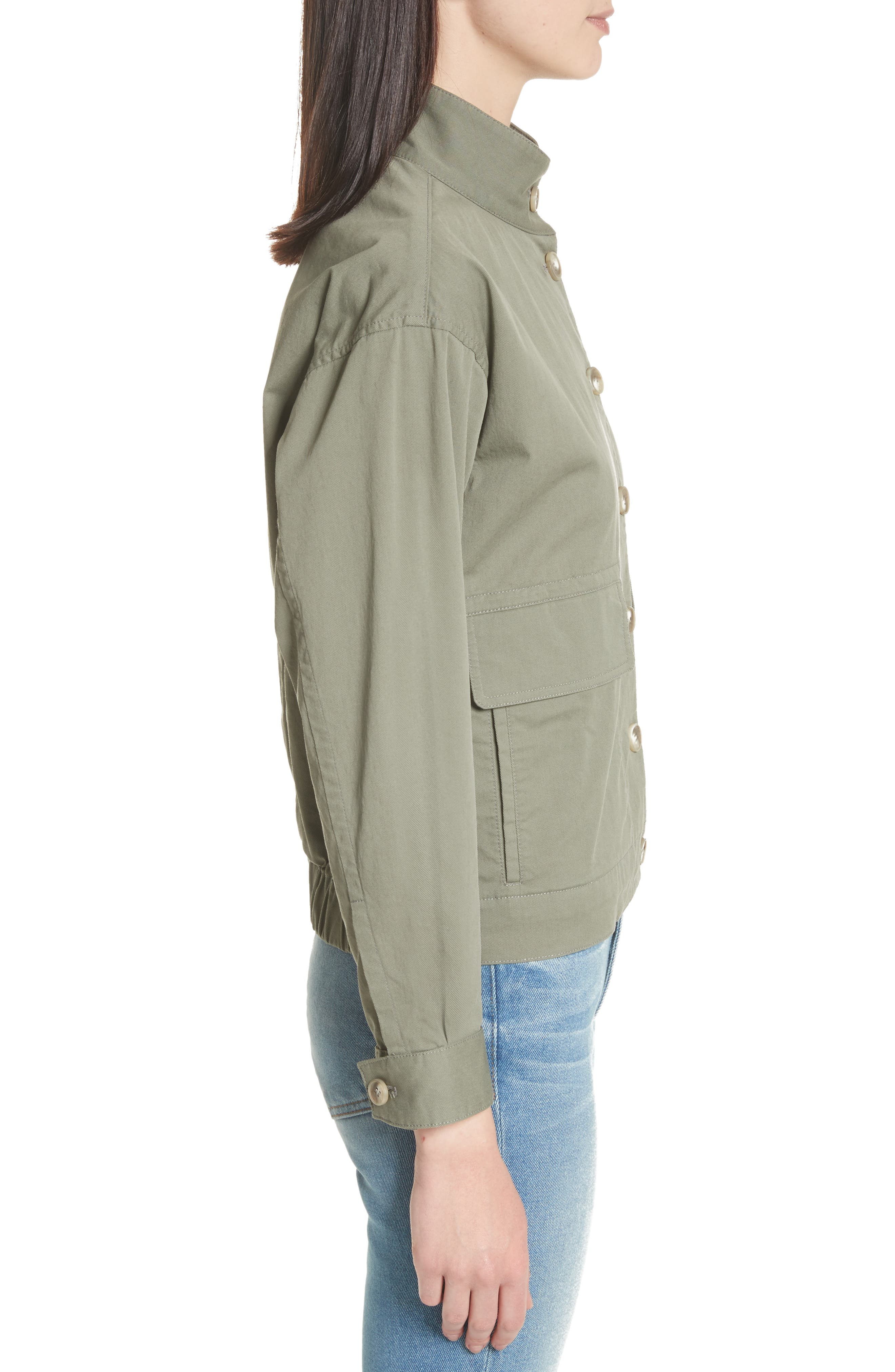 Blouson Bomber Jacket,                             Alternate thumbnail 3, color,                             Faded Army