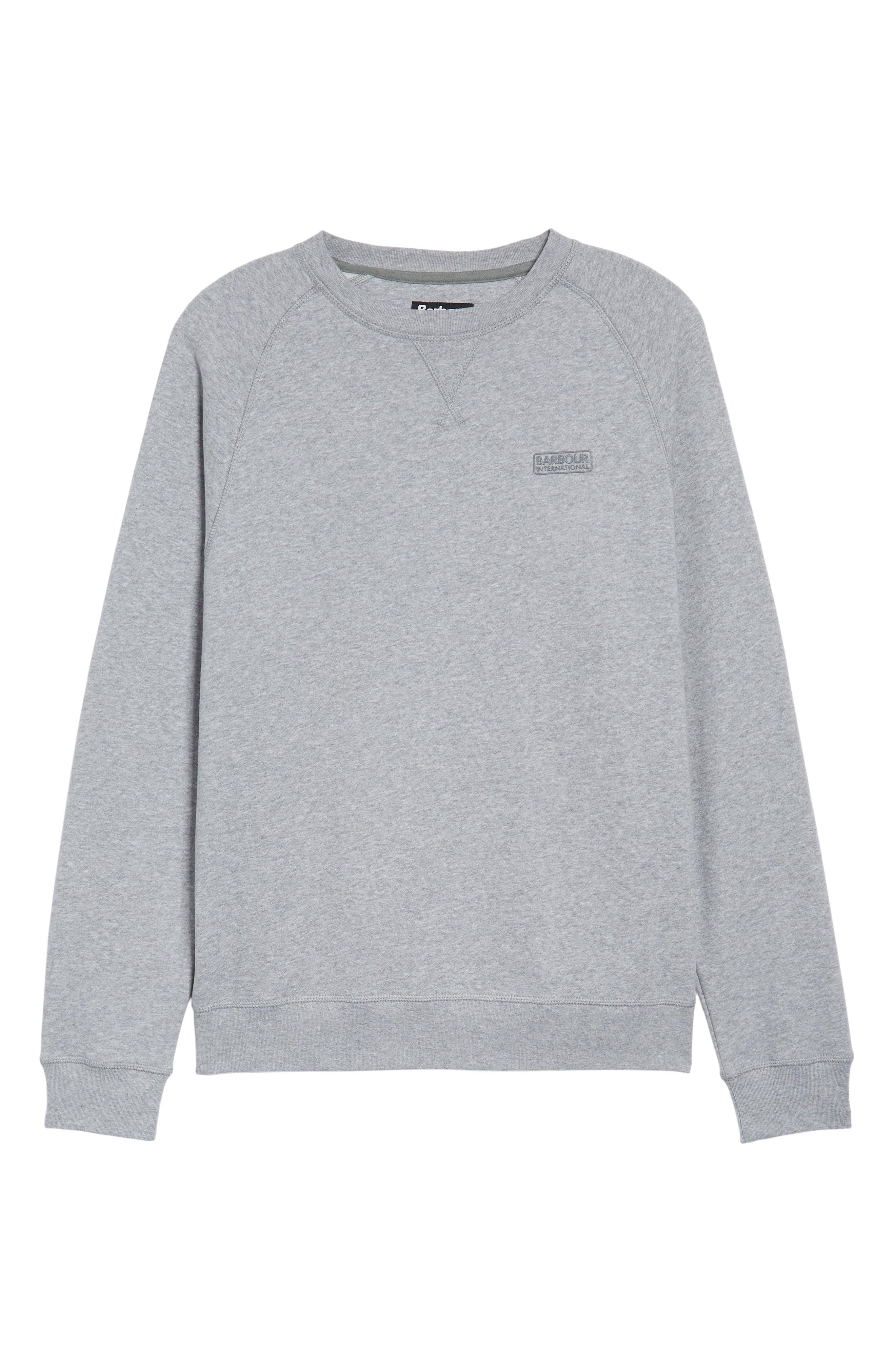 Logo Graphic Essential Sweatshirt,                             Alternate thumbnail 6, color,                             Grey Marl
