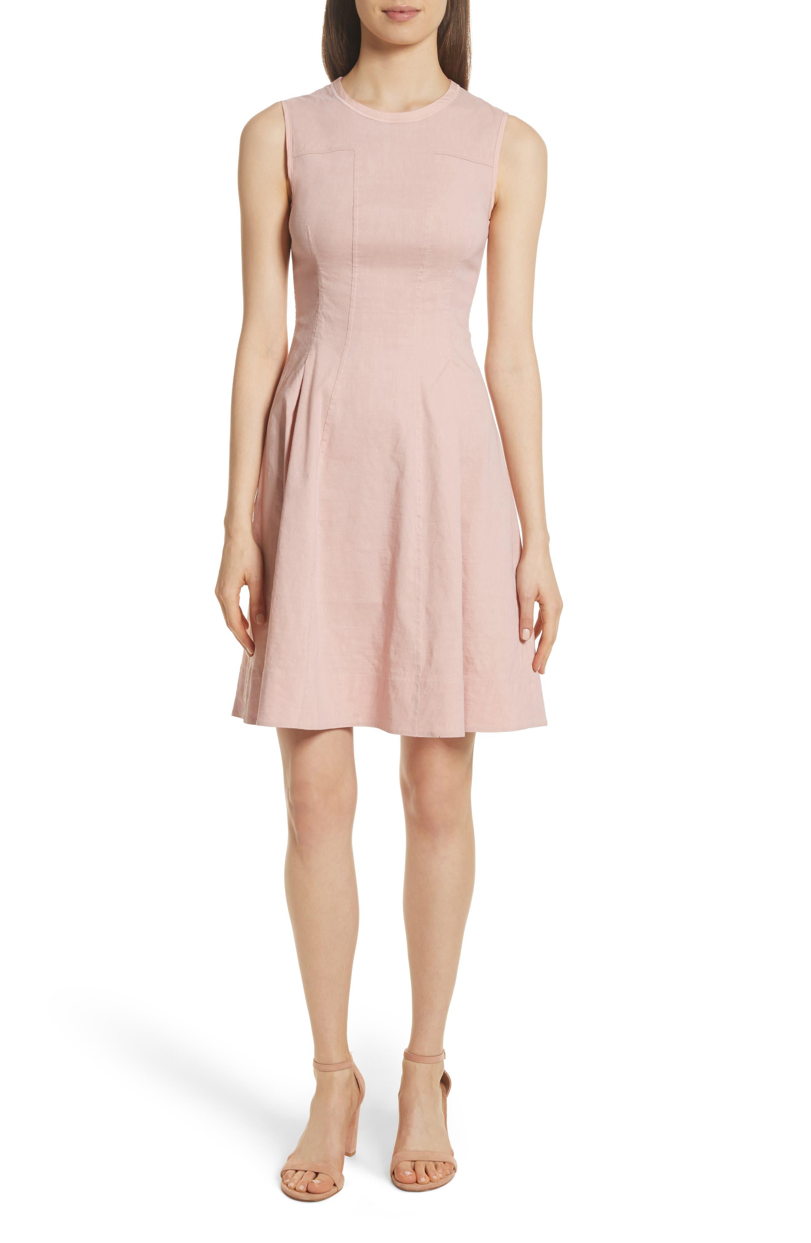 Modern Tea Dress,                             Main thumbnail 1, color,                             Pink Ballet