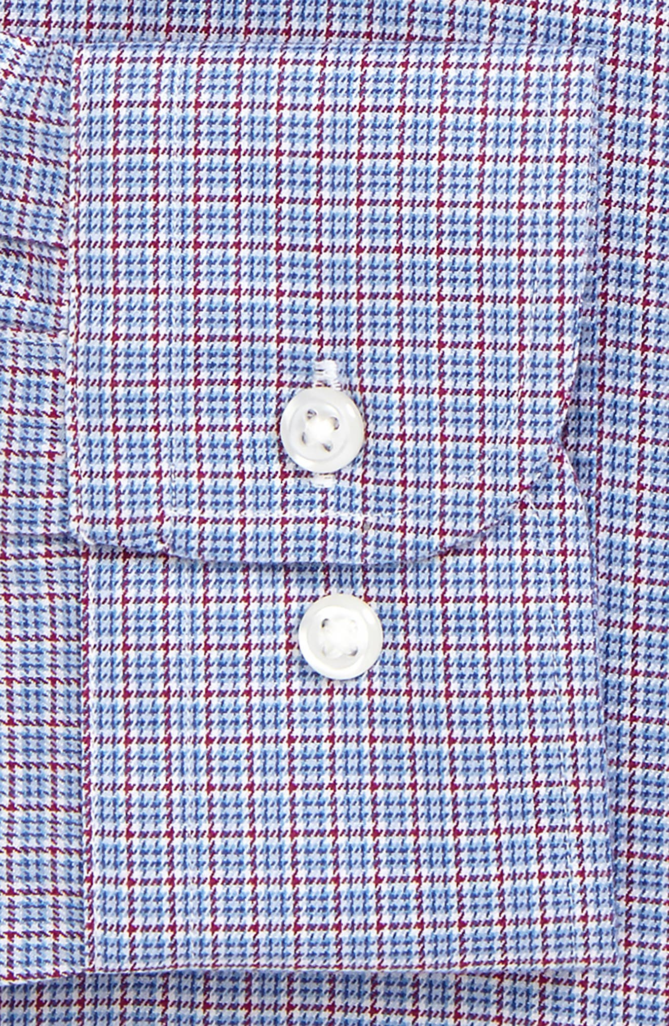 Smartcare<sup>™</sup> Trim Fit Check Dress Shirt,                             Alternate thumbnail 5, color,                             Red Ruby