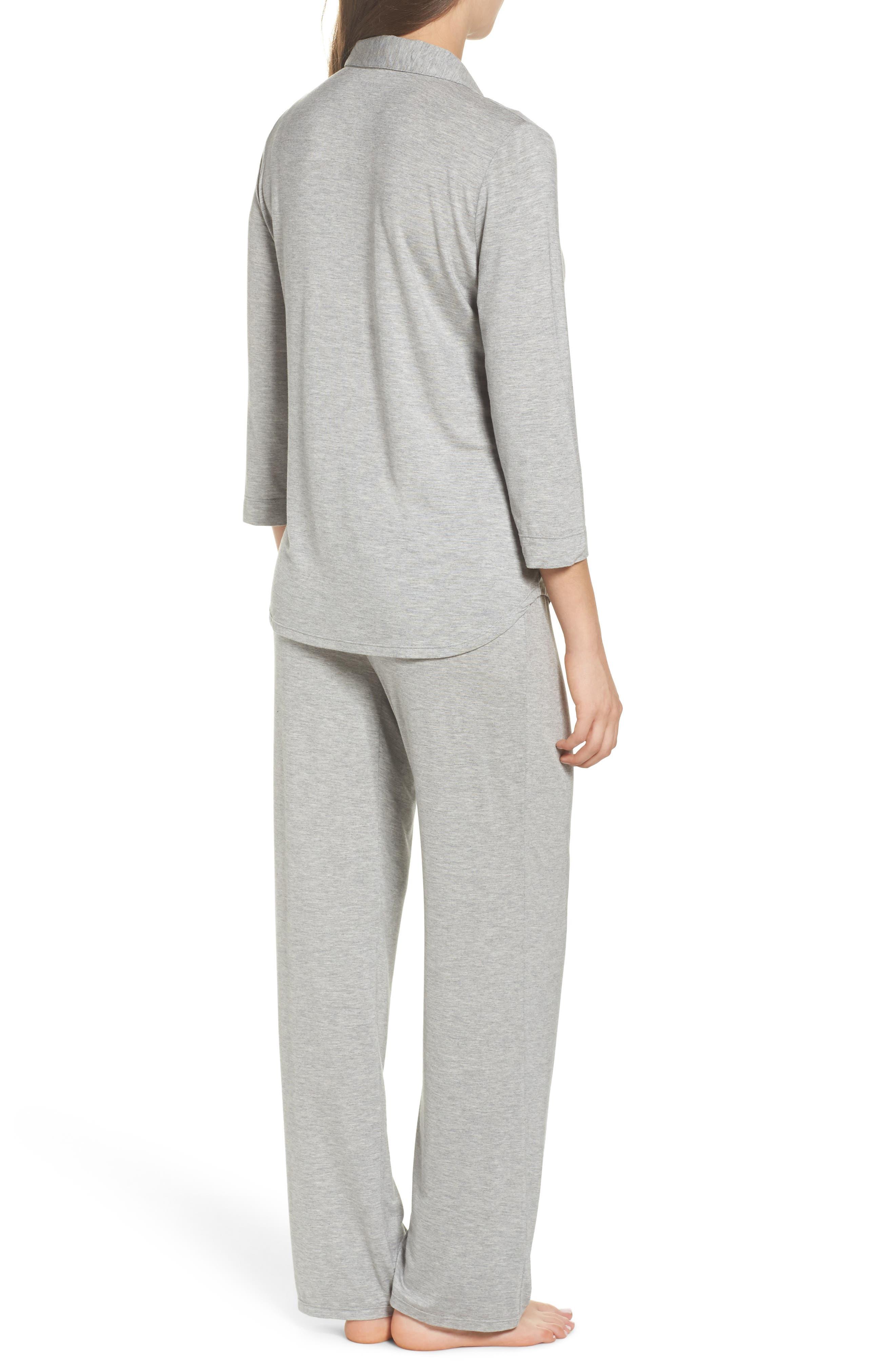Jersey Pajamas,                             Alternate thumbnail 2, color,                             Heather Grey Feeder Stripe