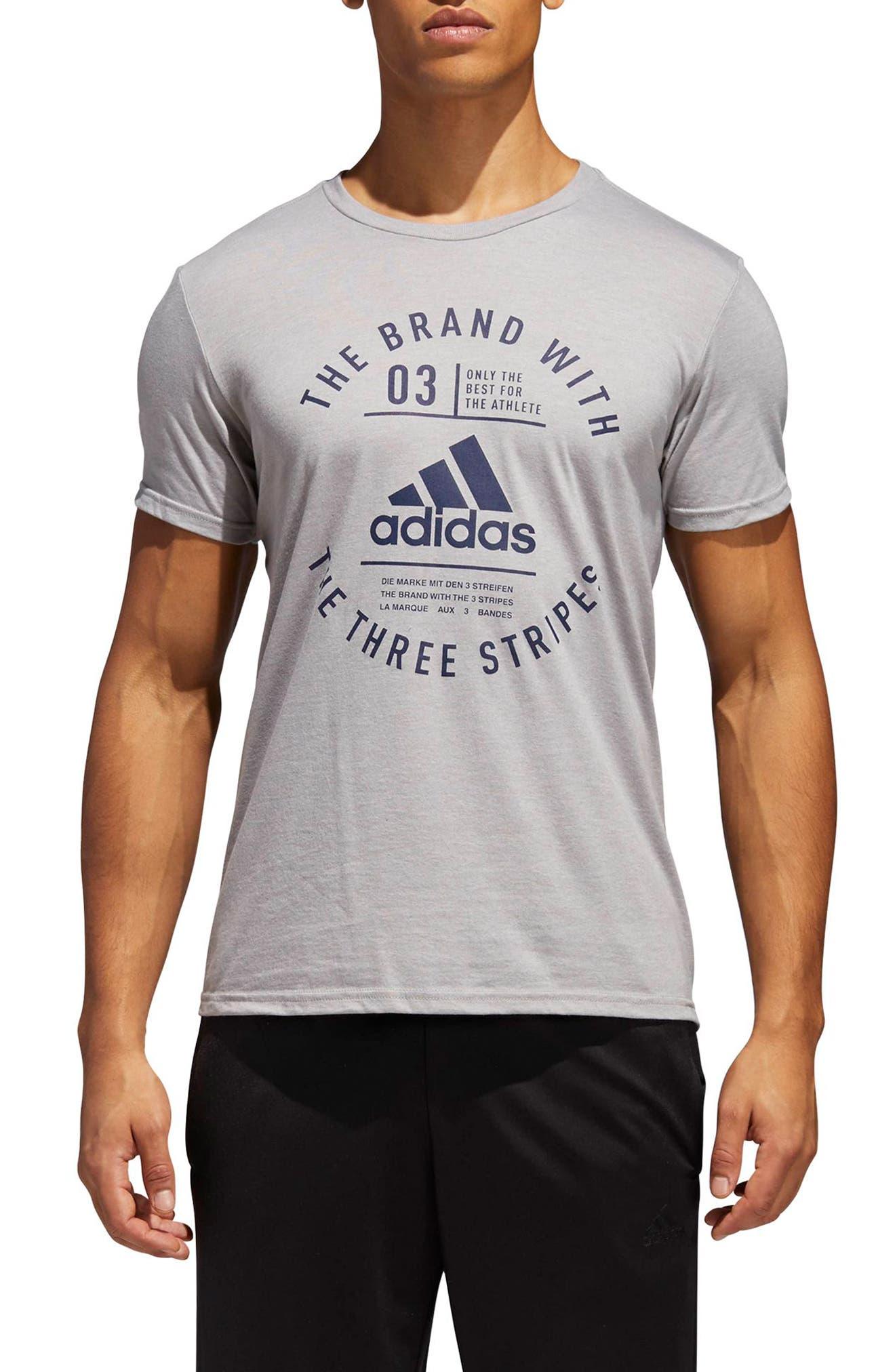 TSL Emblem T-Shirt,                         Main,                         color, Grey Heather / Collegiate Navy