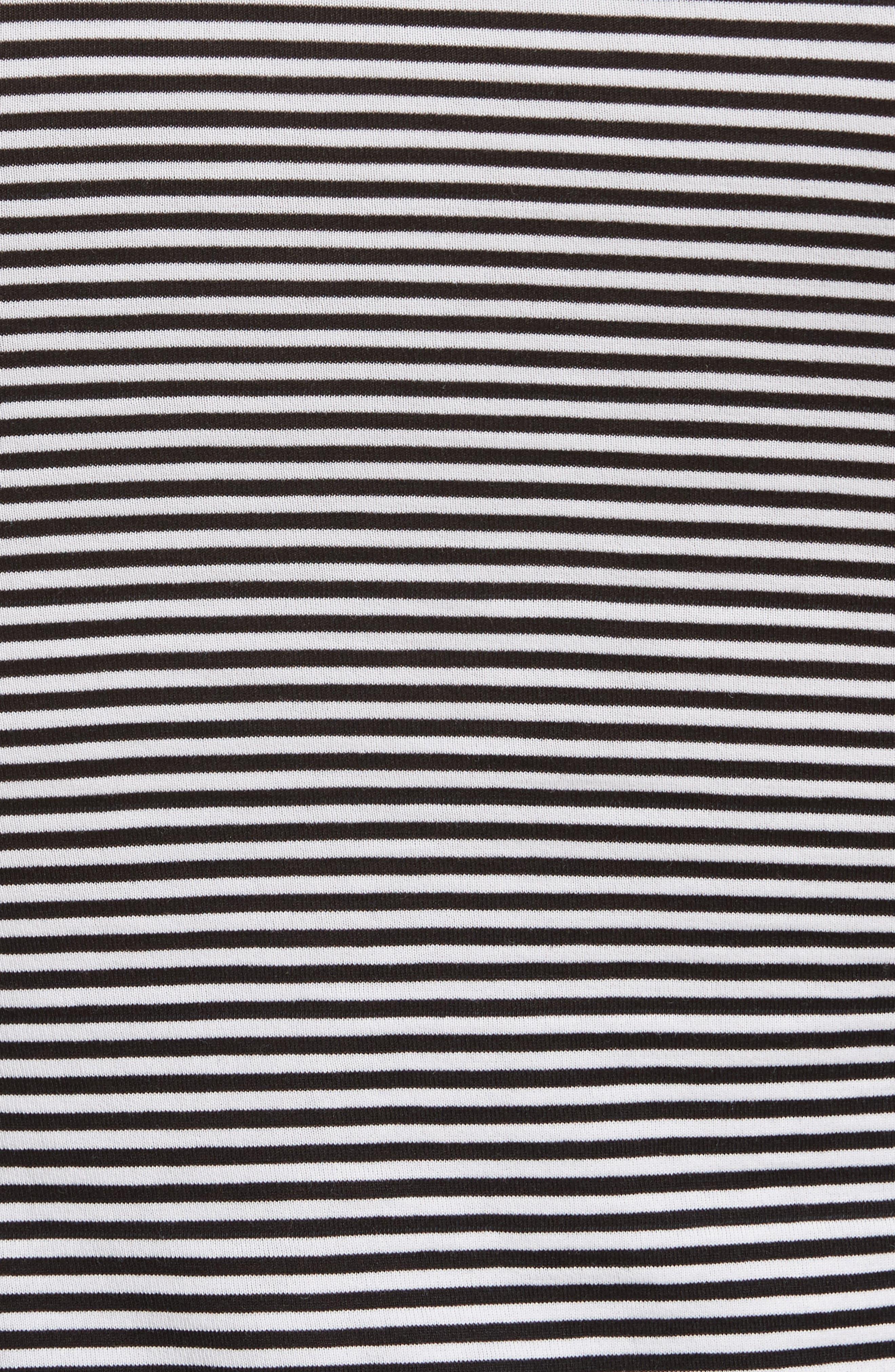 Apex Stripe Crop Tee,                             Alternate thumbnail 5, color,                             Black/ White