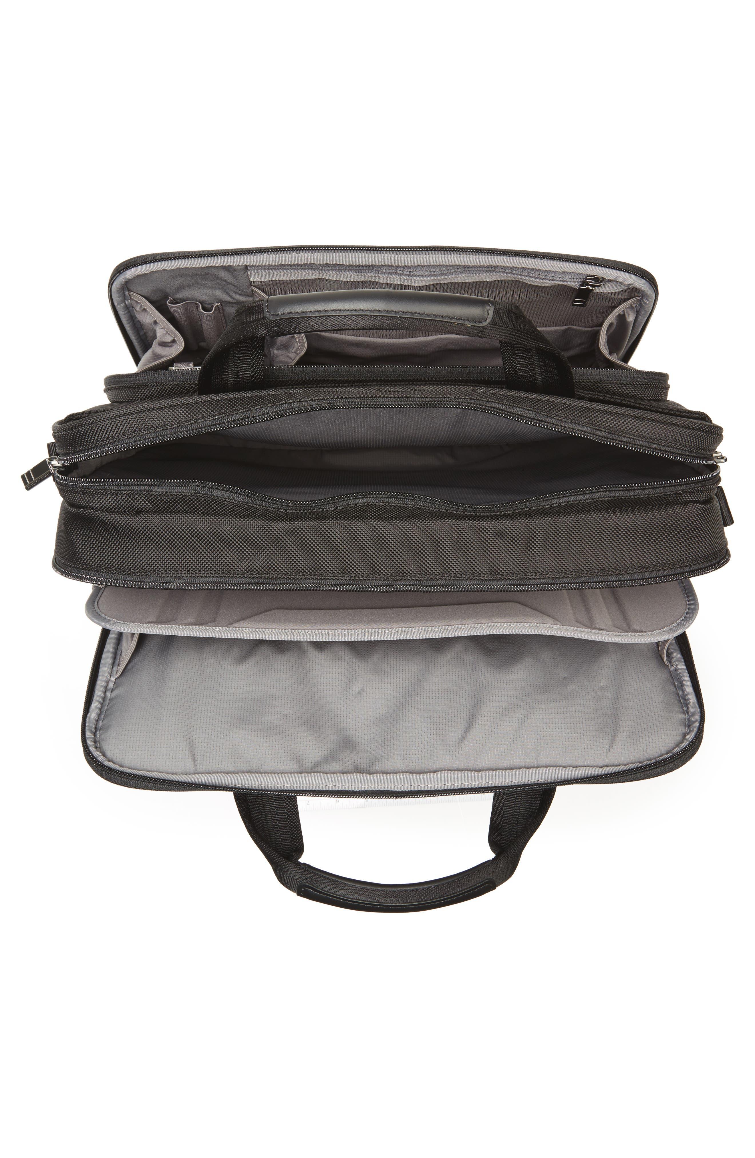 'Medium' Ballistic Nylon Briefcase,                             Alternate thumbnail 4, color,                             Black