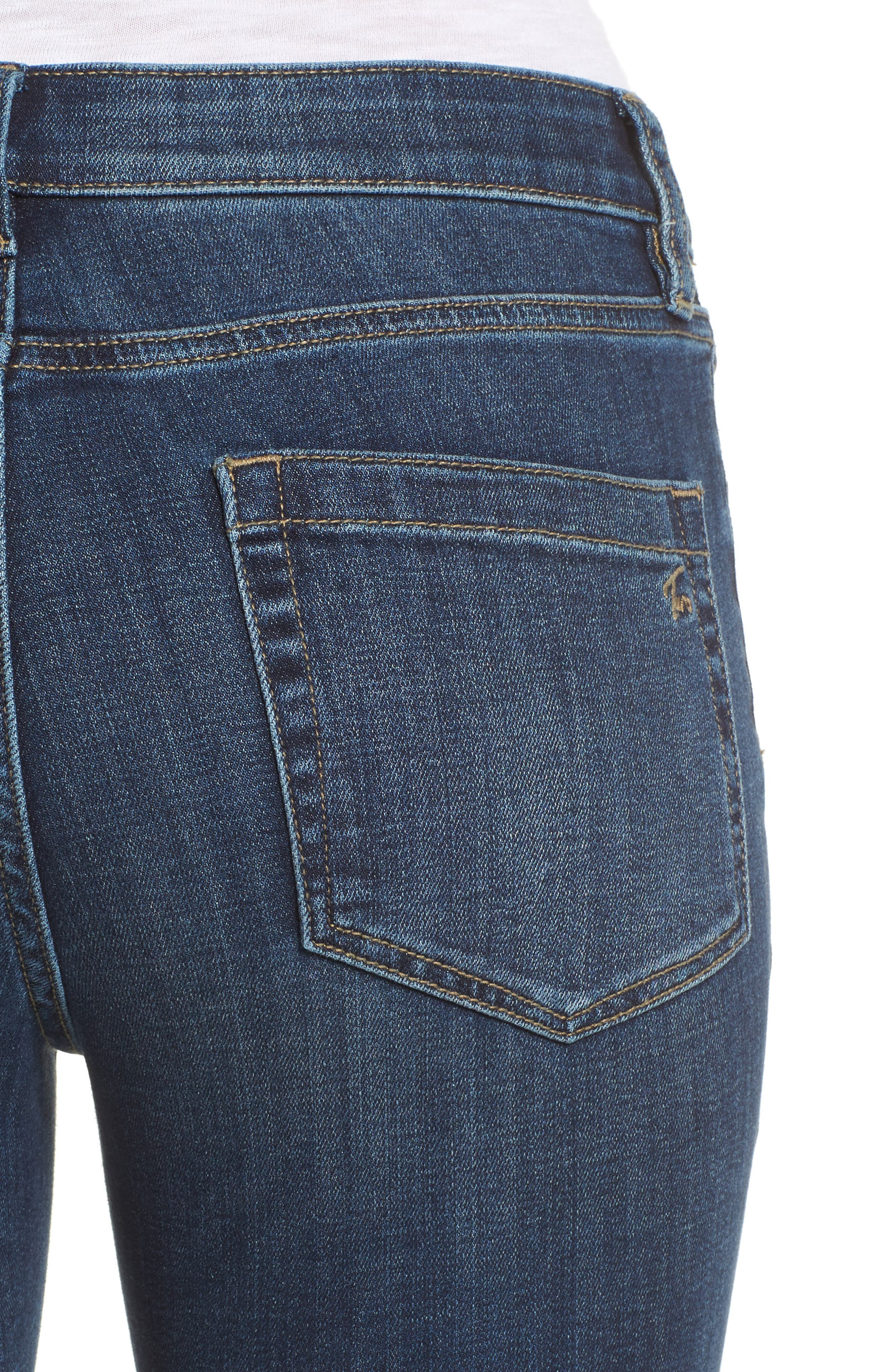 Alternate Image 4  - Two by Vince Camuto Cropped Flare Jeans (Mid Vintage)