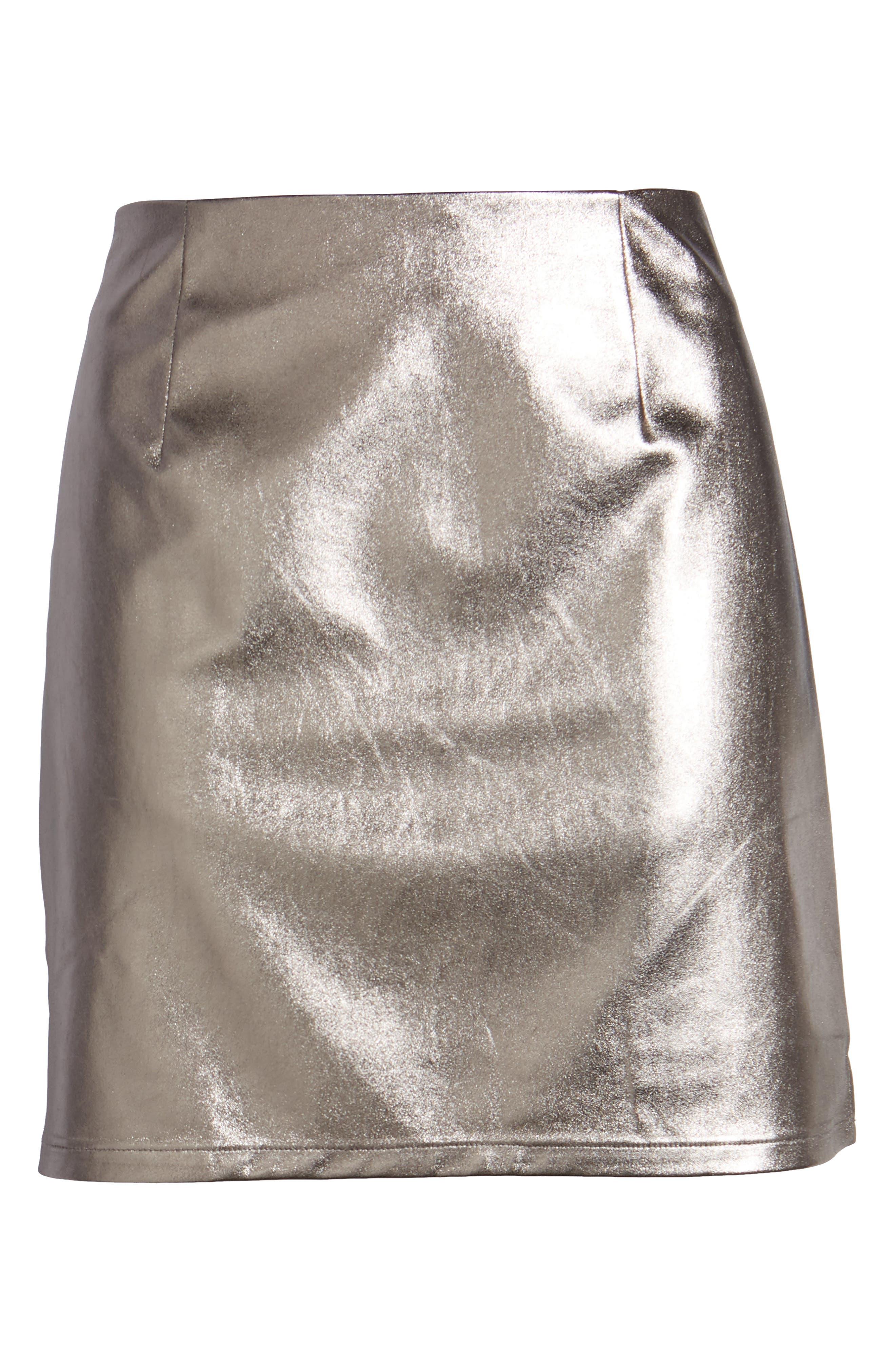 Alternate Image 6  - Lovers+ Friends Back to Basics Silver Miniskirt