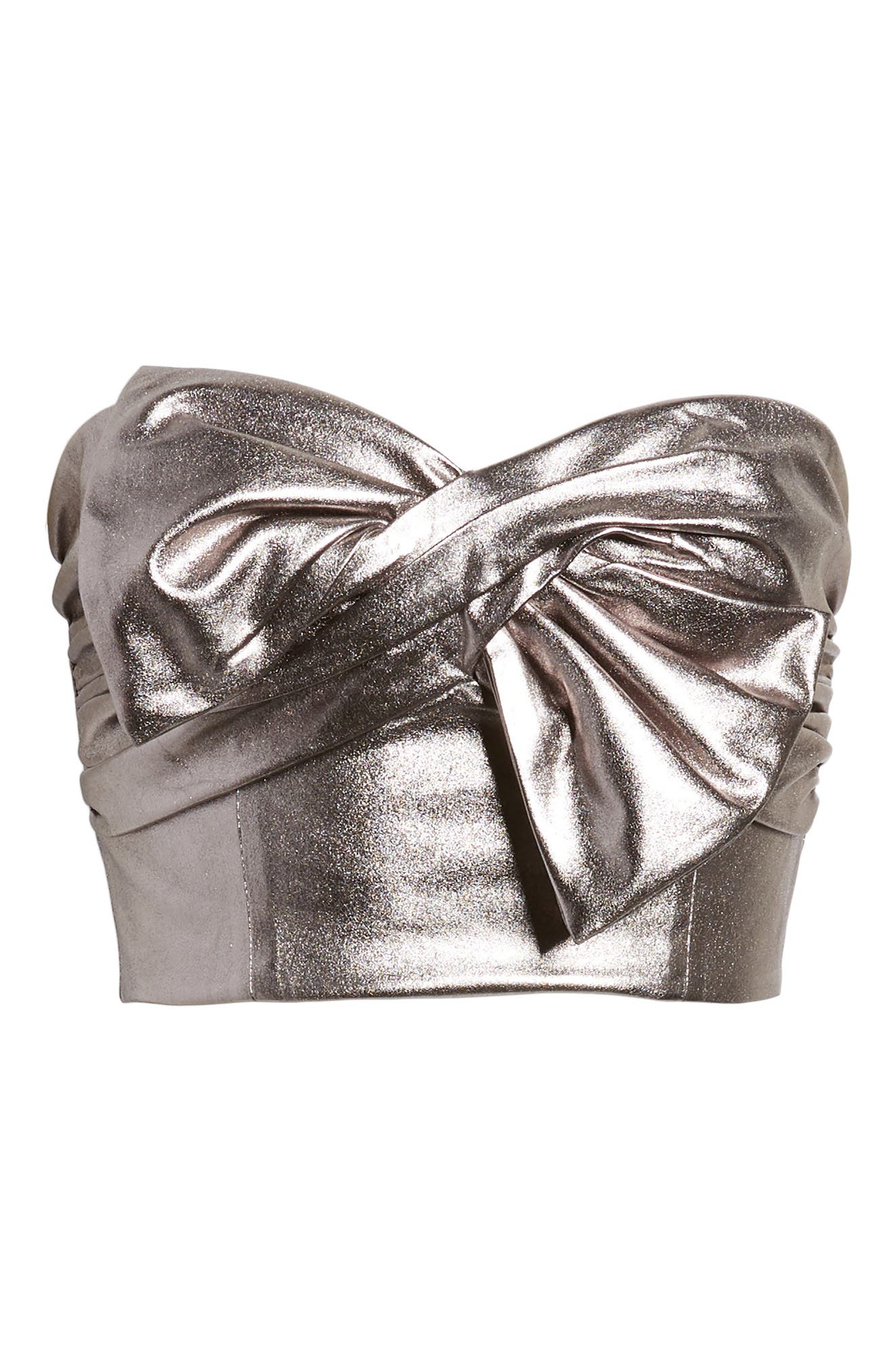 Rolla Strapless Top,                             Alternate thumbnail 7, color,                             Pewter