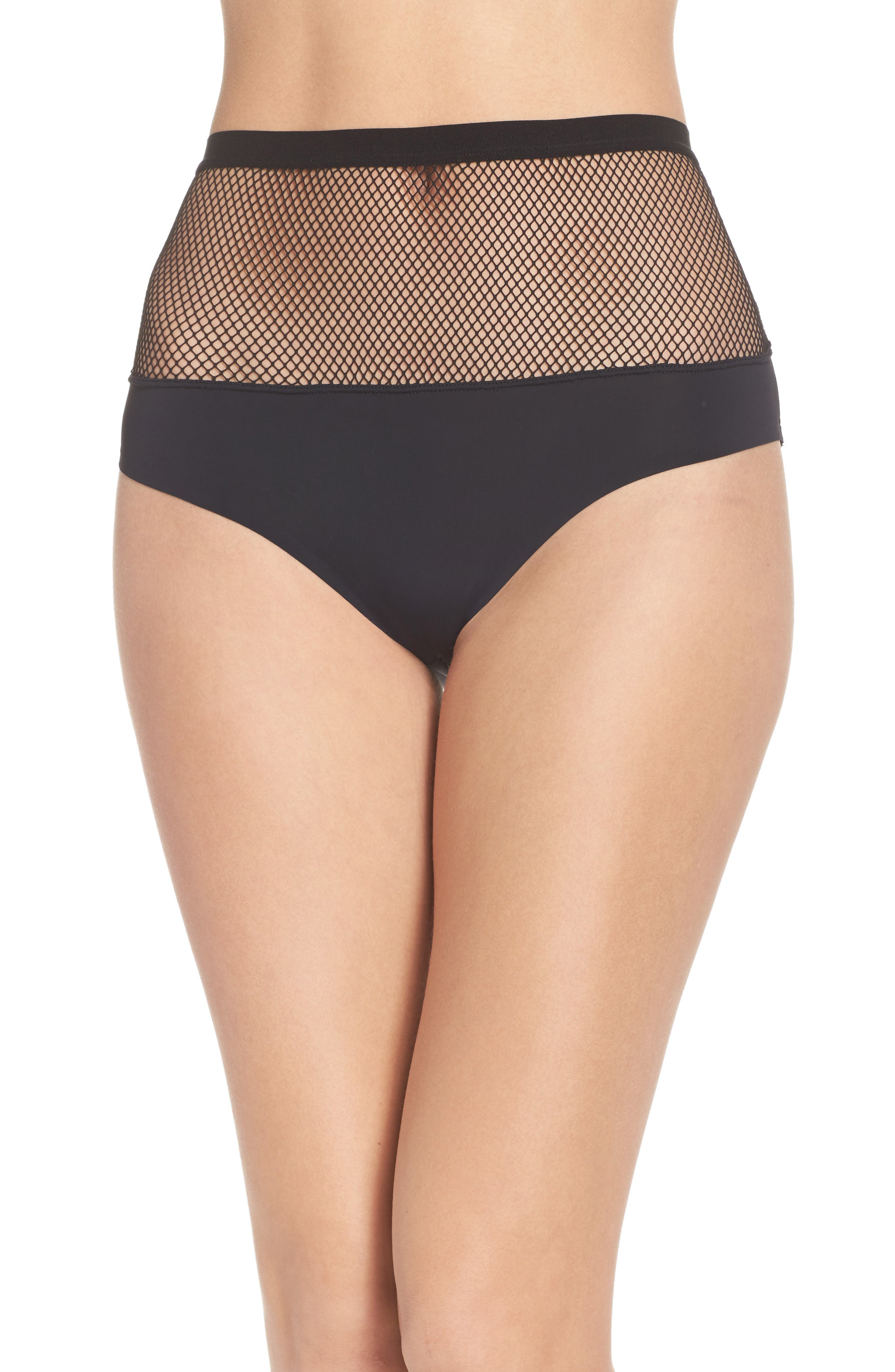 Honeydew Fishnet Hipster Panties