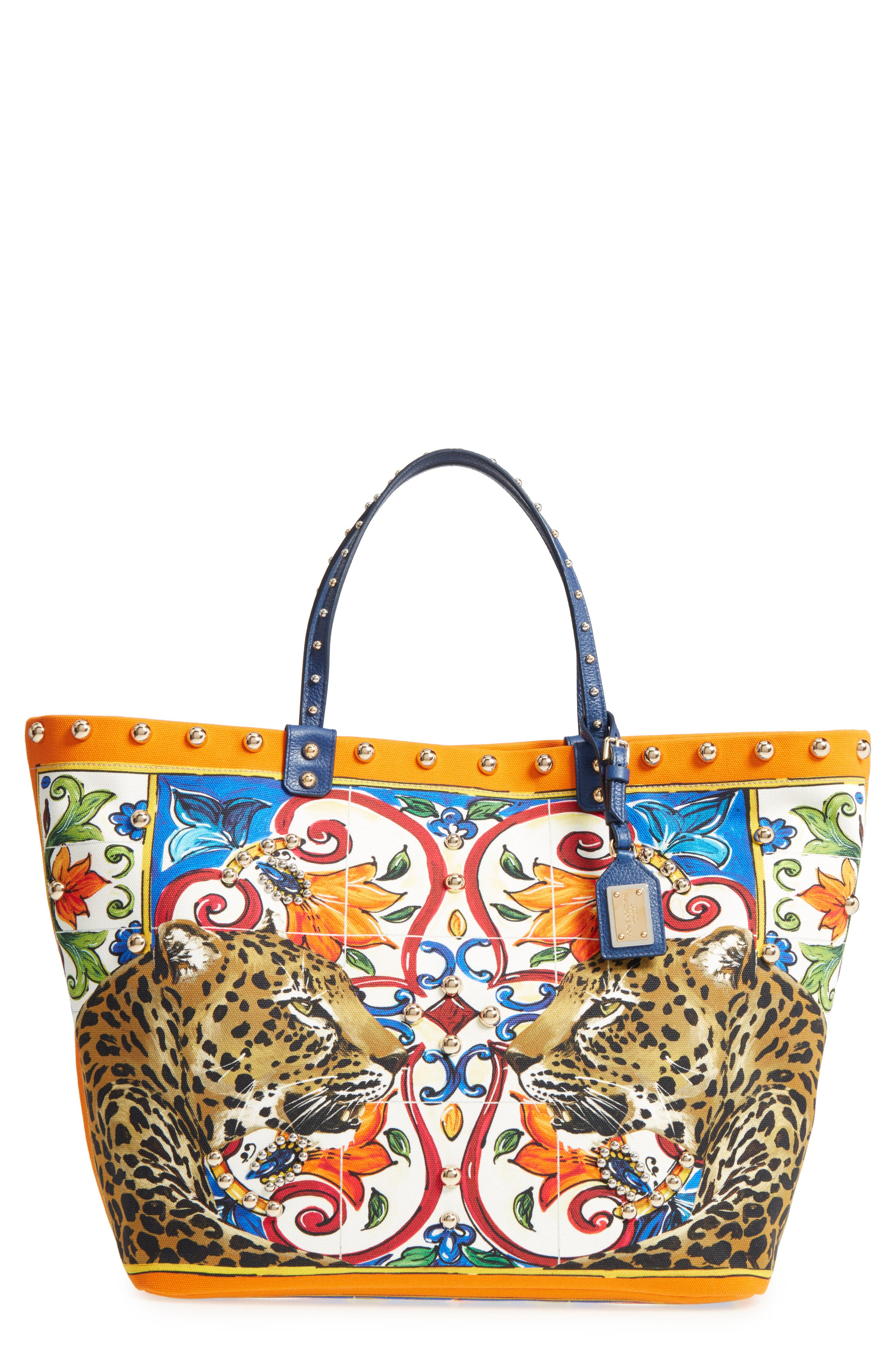 Dolce&Gabbana Maiolica Canvas Tote