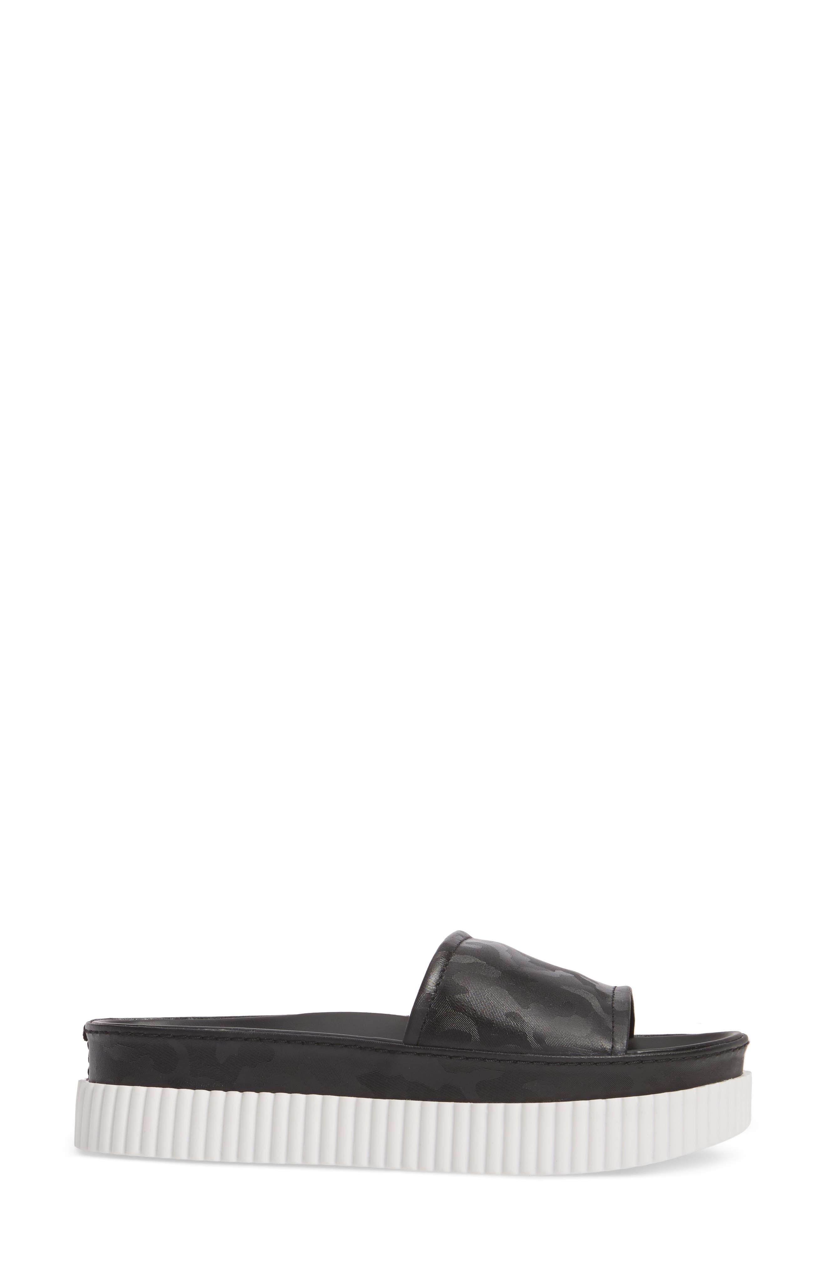 Isla Pool Slide Sandal,                             Alternate thumbnail 3, color,                             Black/ Camo