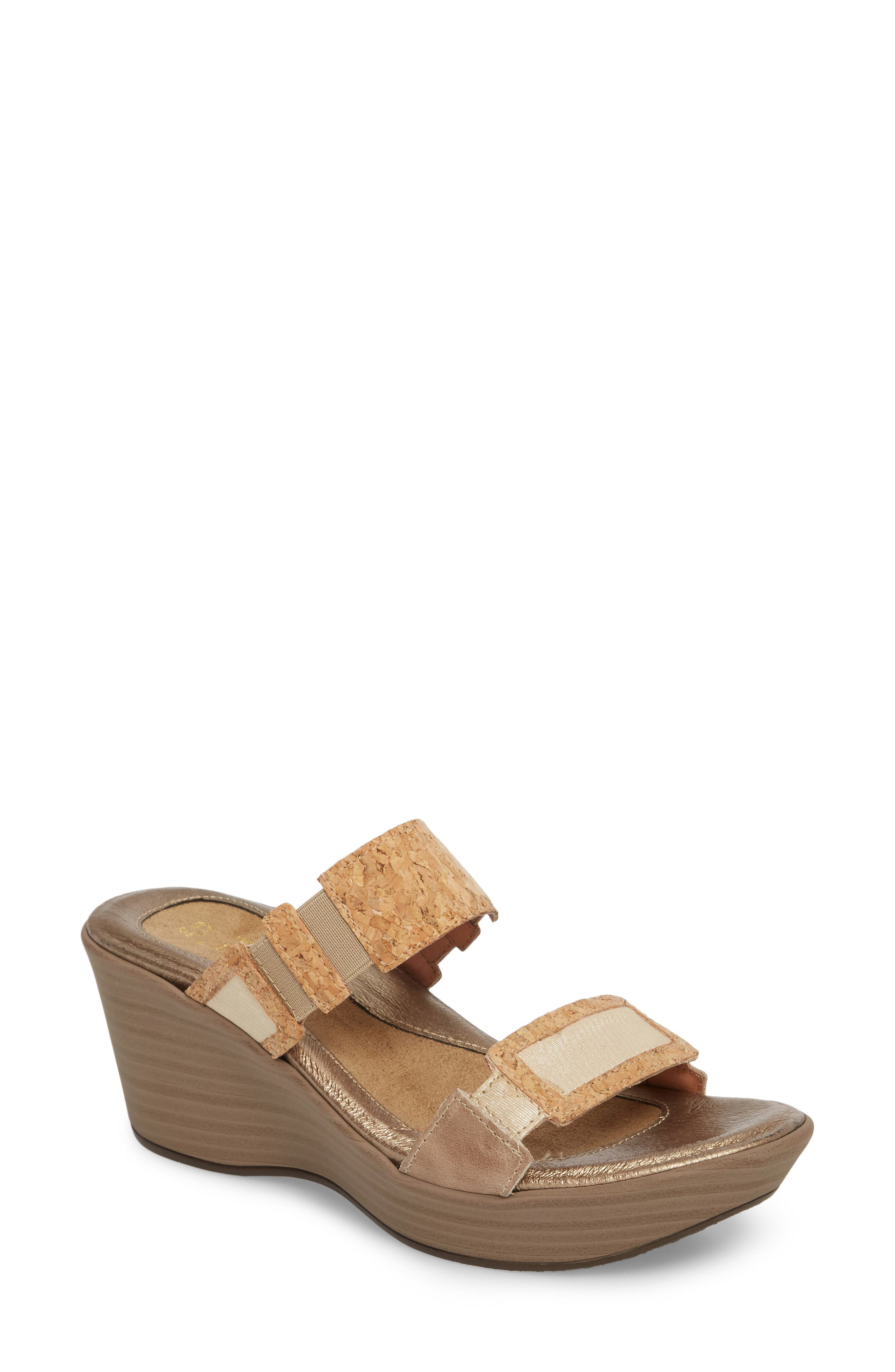 'Treasure' Sandal,                             Main thumbnail 1, color,                             Cork Leather