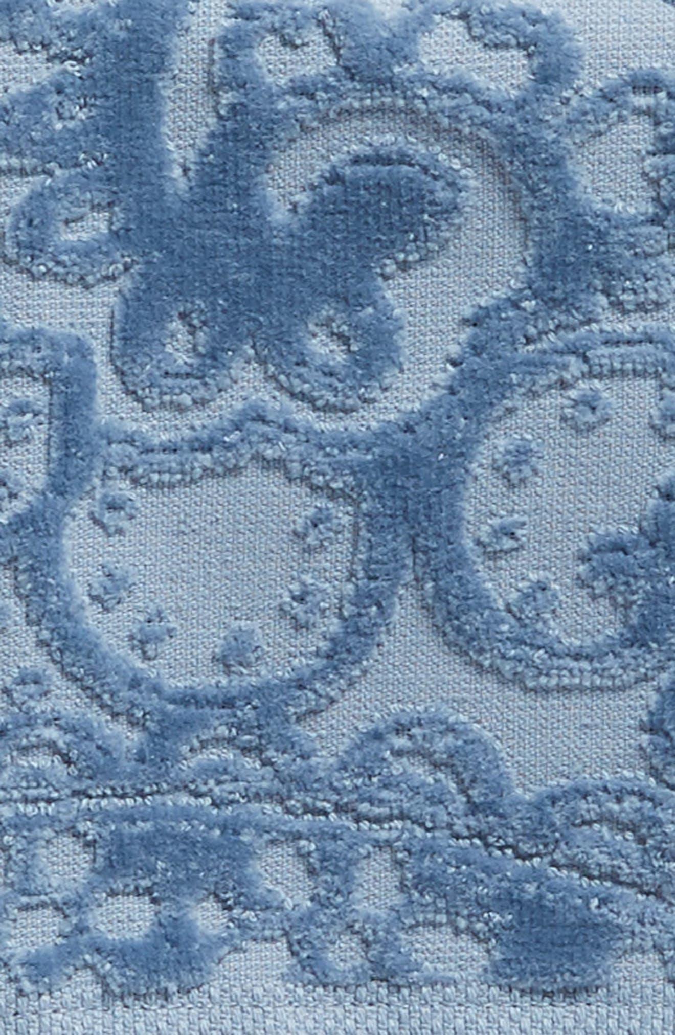 Elisa Turkish Cotton Washcloth,                             Alternate thumbnail 2, color,                             Blue Chambray