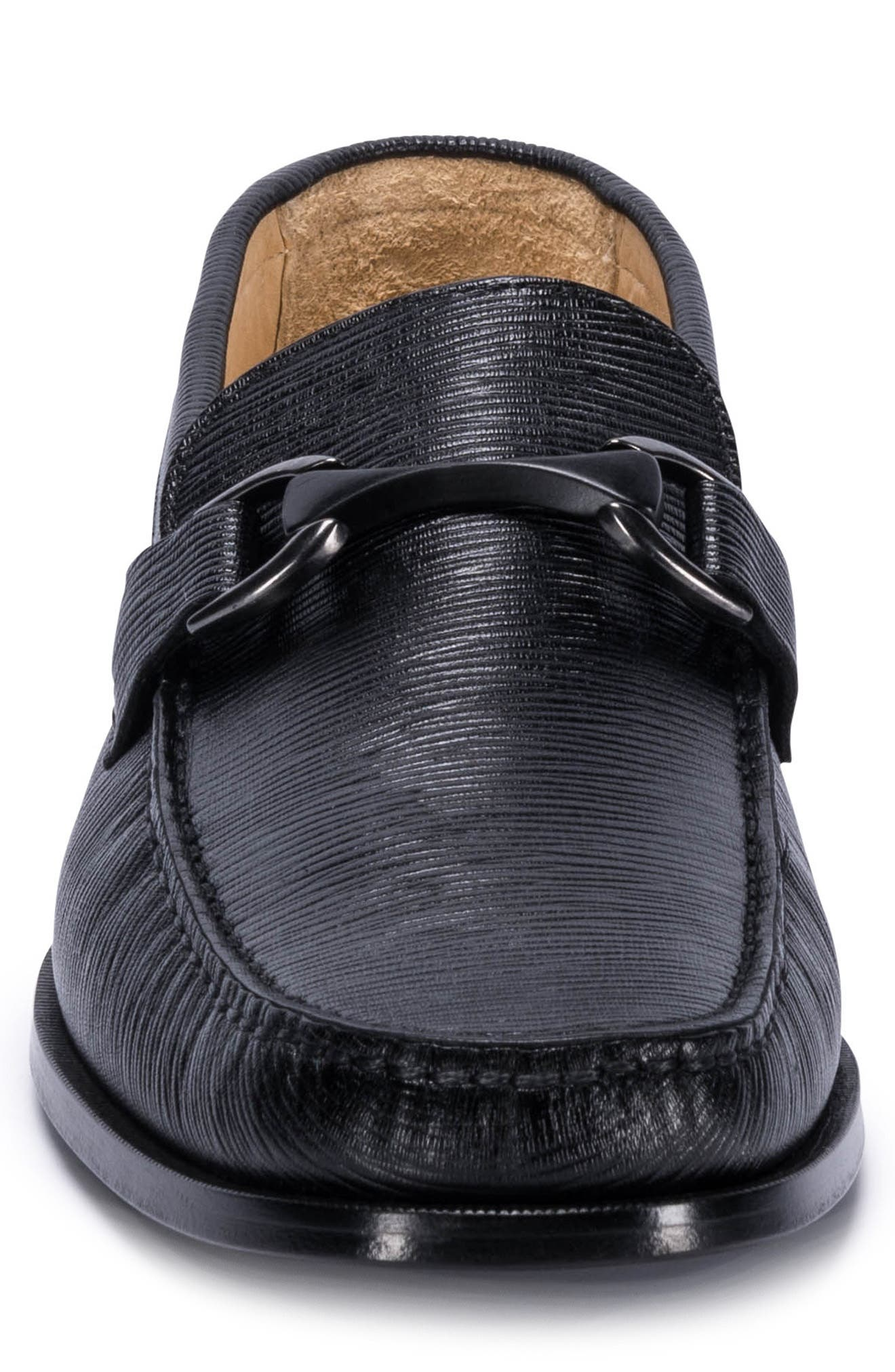 Bergamo Bit Loafer,                             Alternate thumbnail 4, color,                             Nero Leather