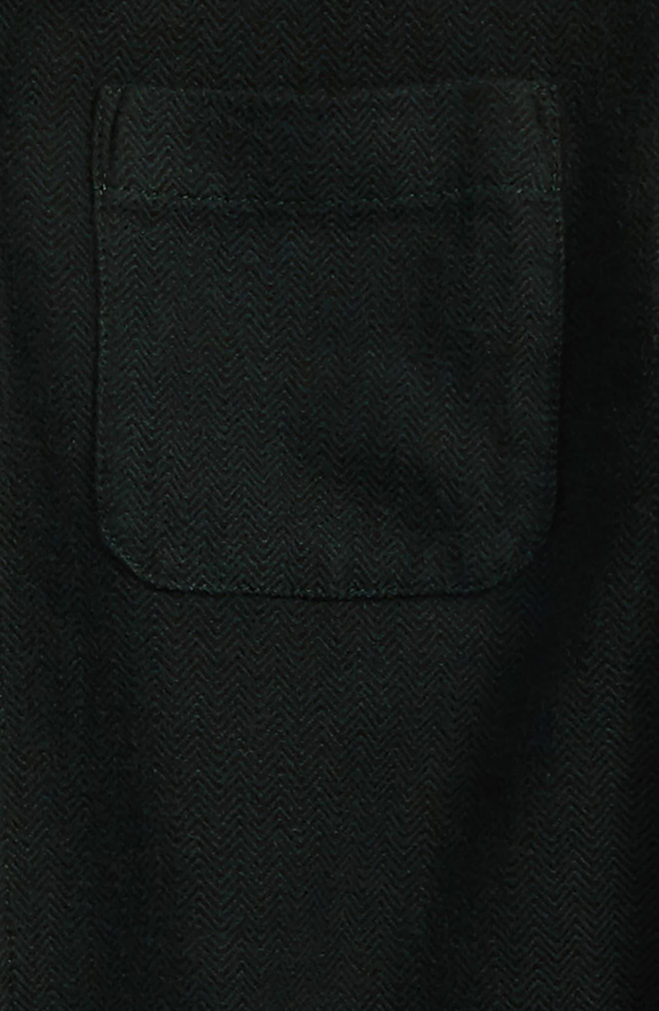 Herringbone Hooded Shirt,                             Alternate thumbnail 2, color,                             Green Pinecone Herringbone