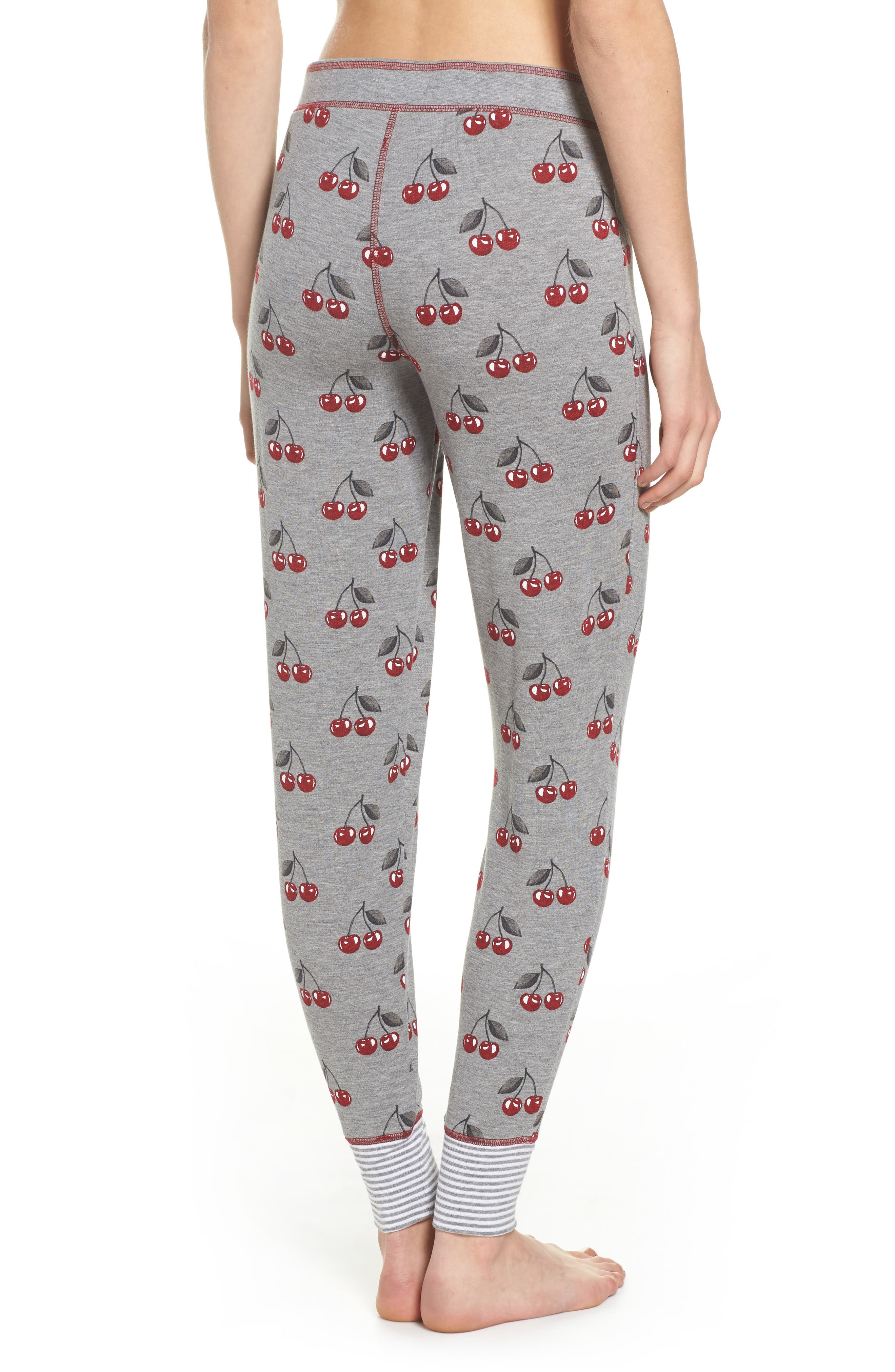 Cherry Lounge Jogger Pants,                             Alternate thumbnail 2, color,                             Heather Grey