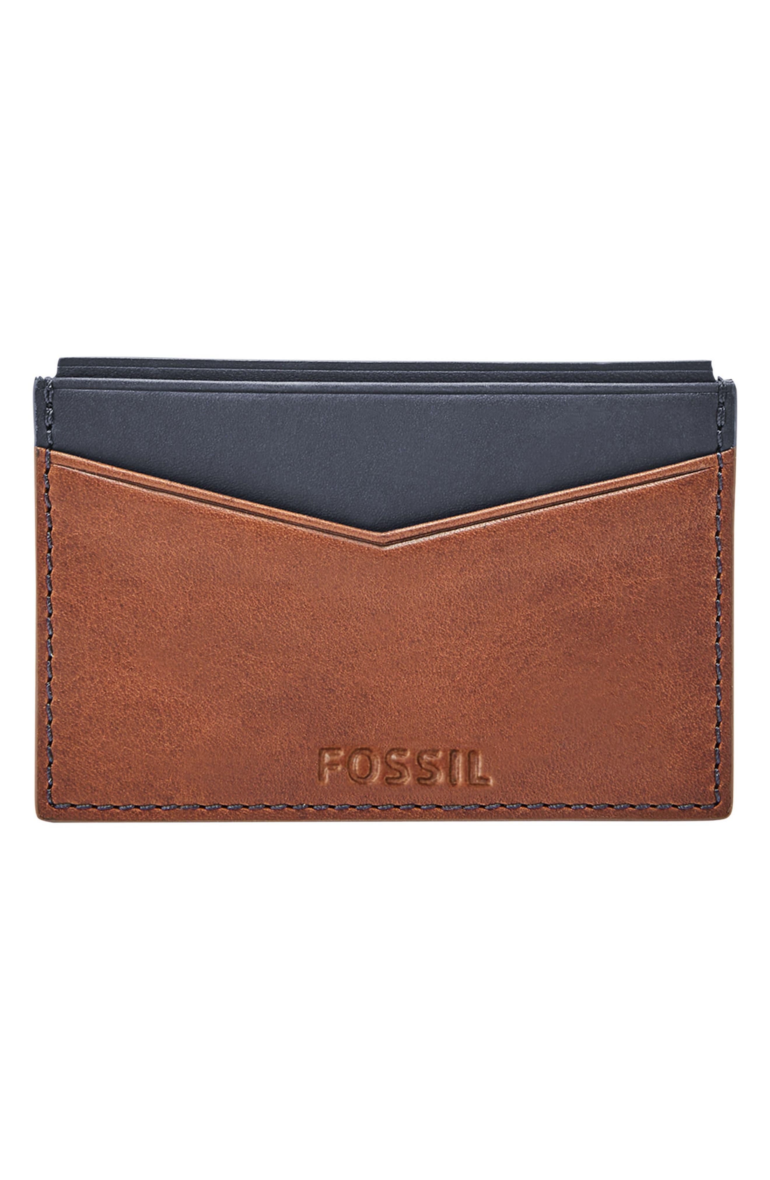 Townsman Chronograph Leather Strap Watch & Wallet Set, 44mm,                             Alternate thumbnail 2, color,                             Brown/ Blue/ Silver