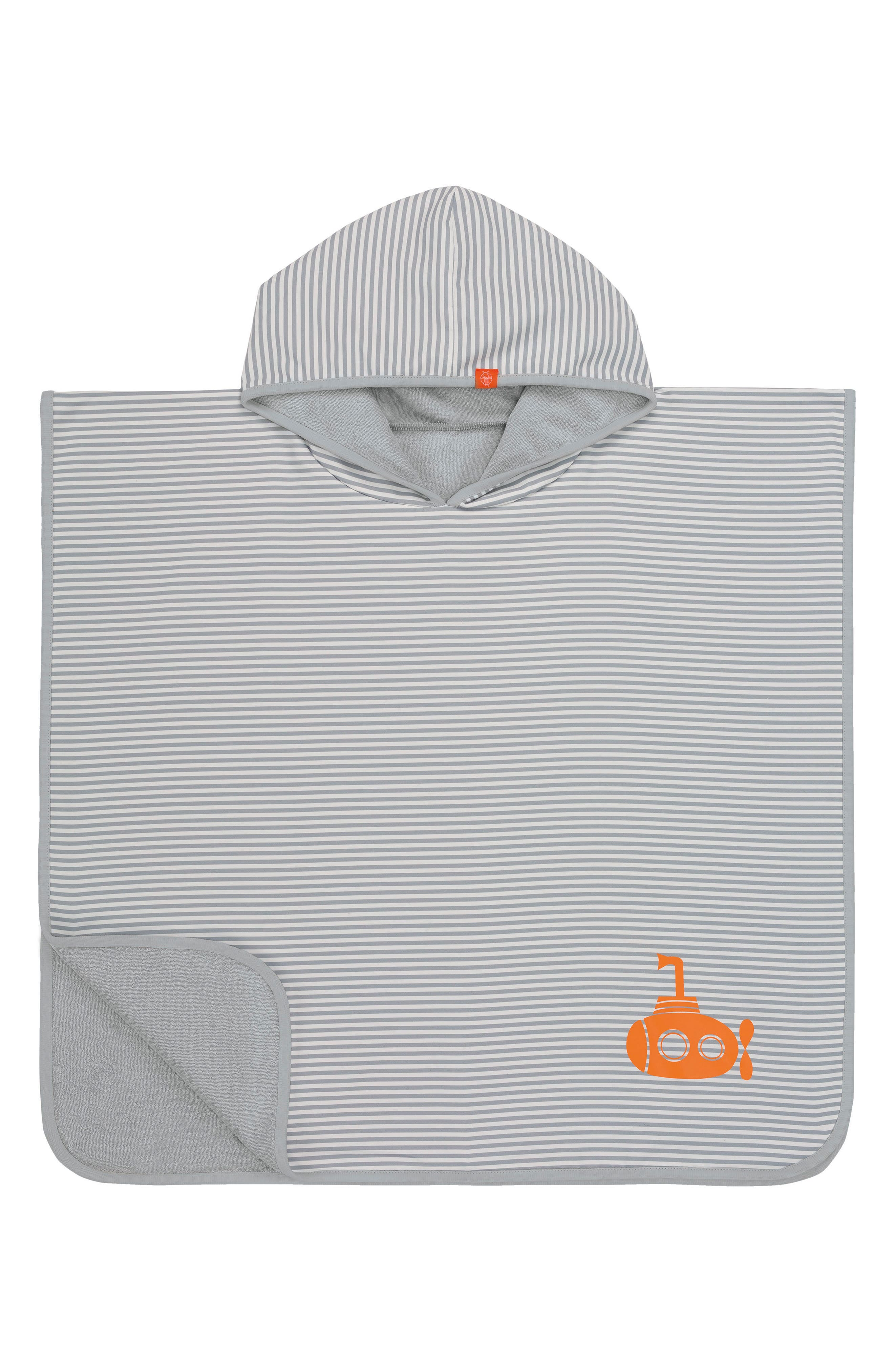 Main Image - Lässig Submarine Hooded Beach Poncho (Baby)