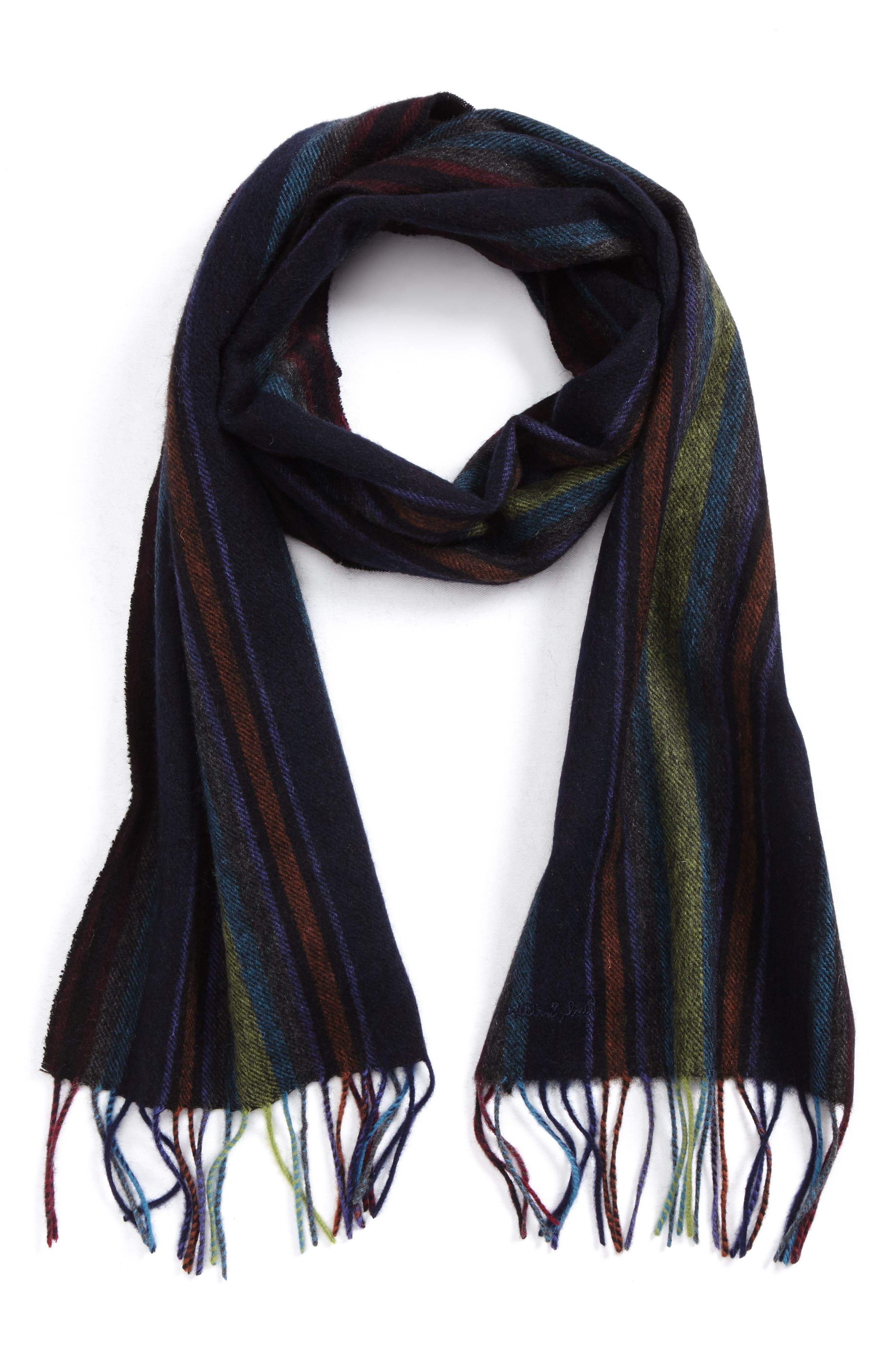 College Lambswool Scarf,                             Main thumbnail 1, color,                             Navy