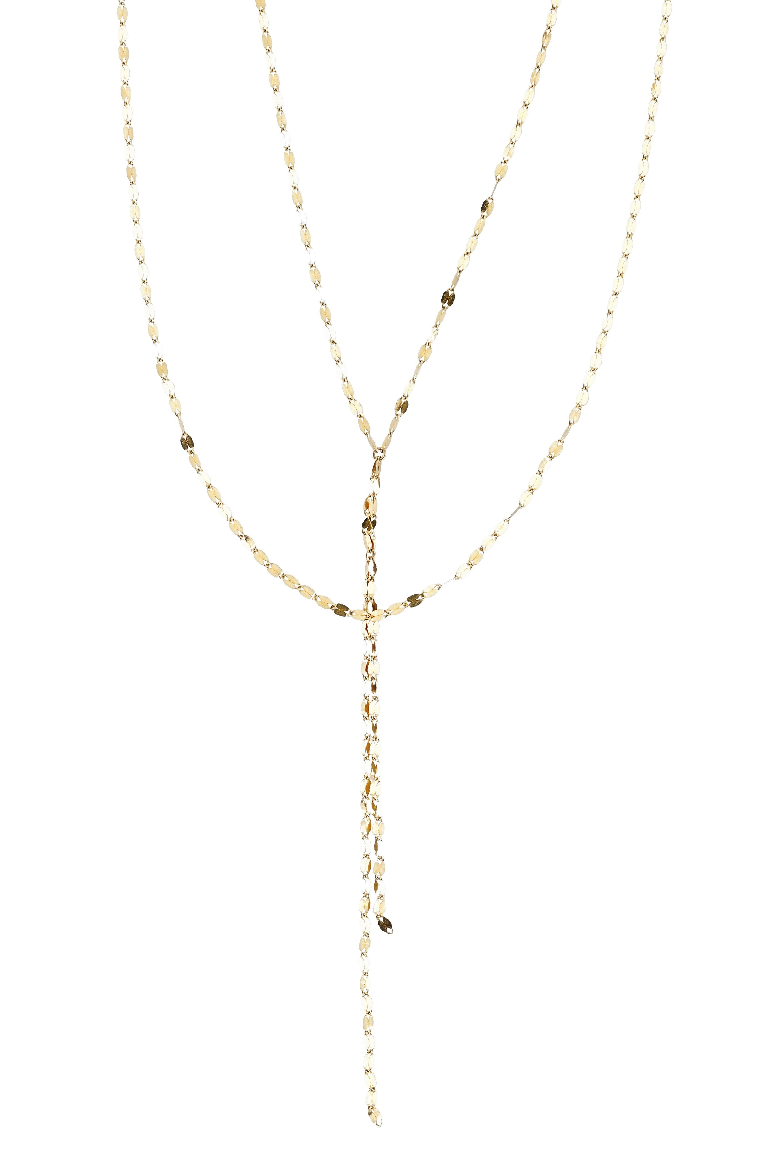 Multistrand Necklace,                         Main,                         color, Yellow Gold