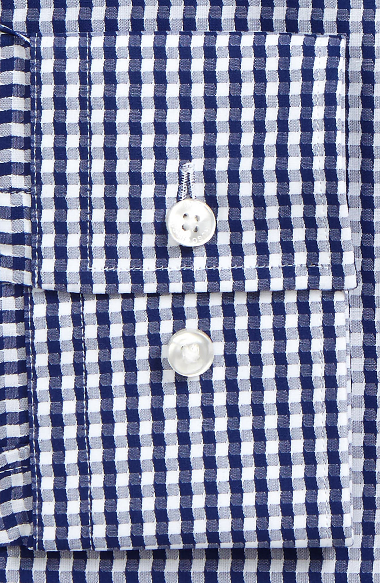 Jason Slim Fit Check Dress Shirt,                             Alternate thumbnail 2, color,                             Navy