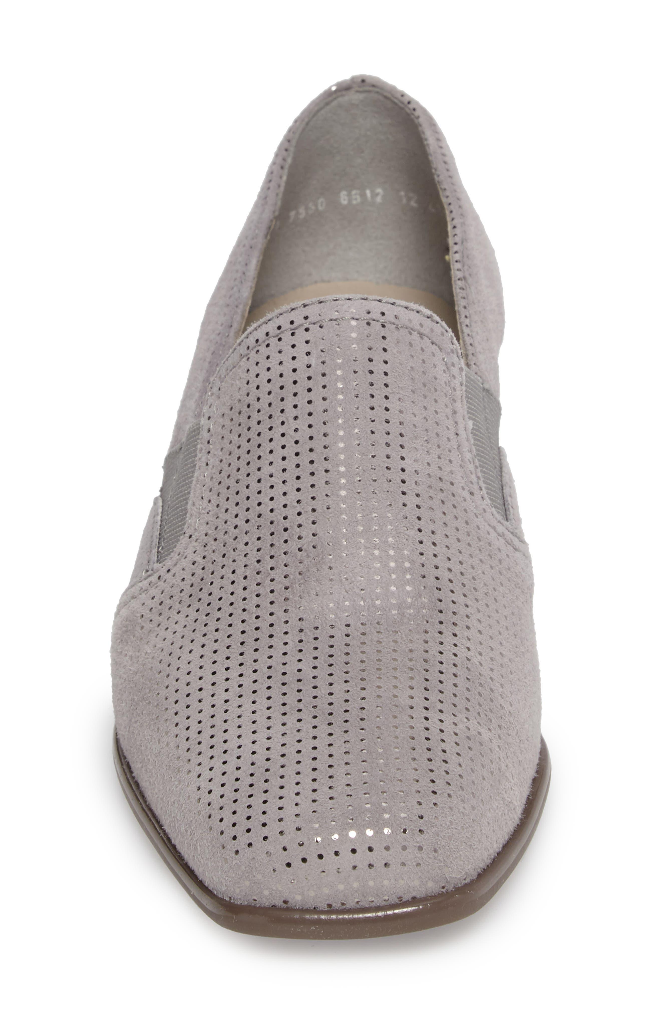 Grace Pump,                             Alternate thumbnail 4, color,                             Grey Leather