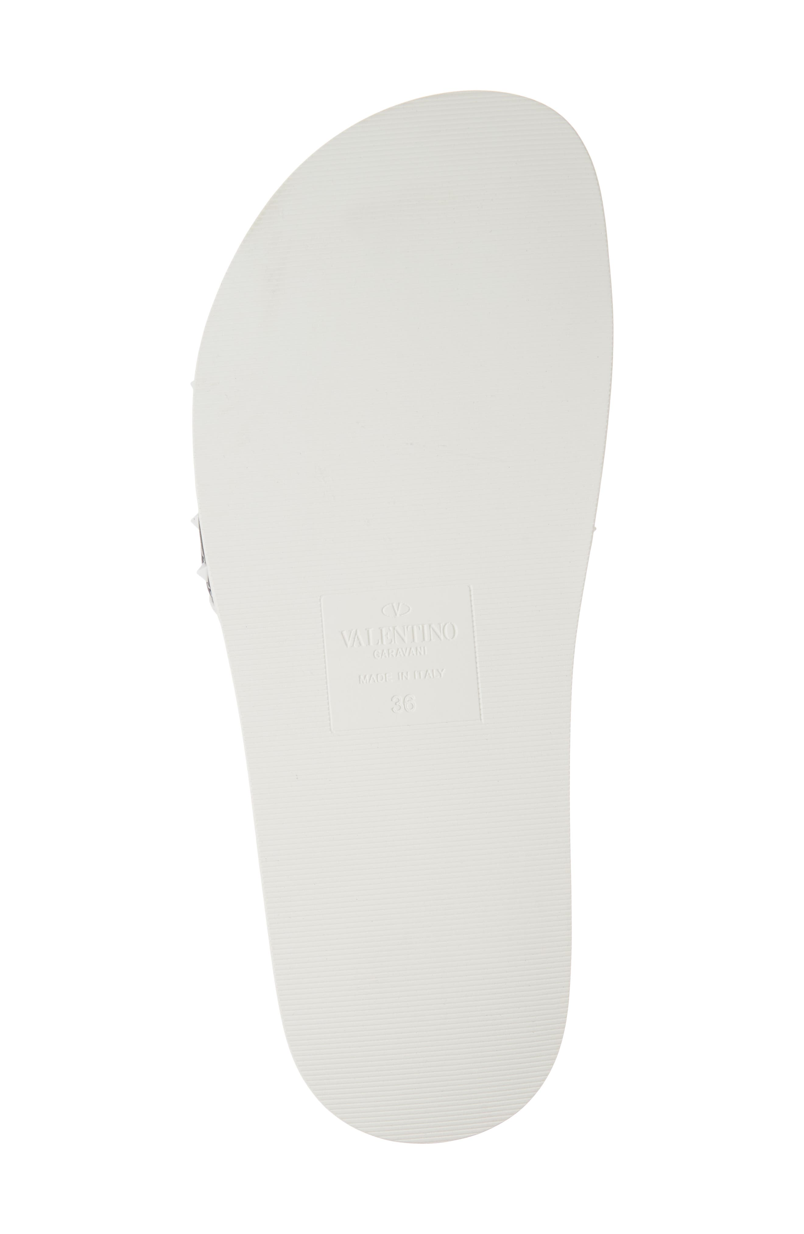 Free Rockstud Slide Sandal,                             Alternate thumbnail 6, color,                             Marine/ White