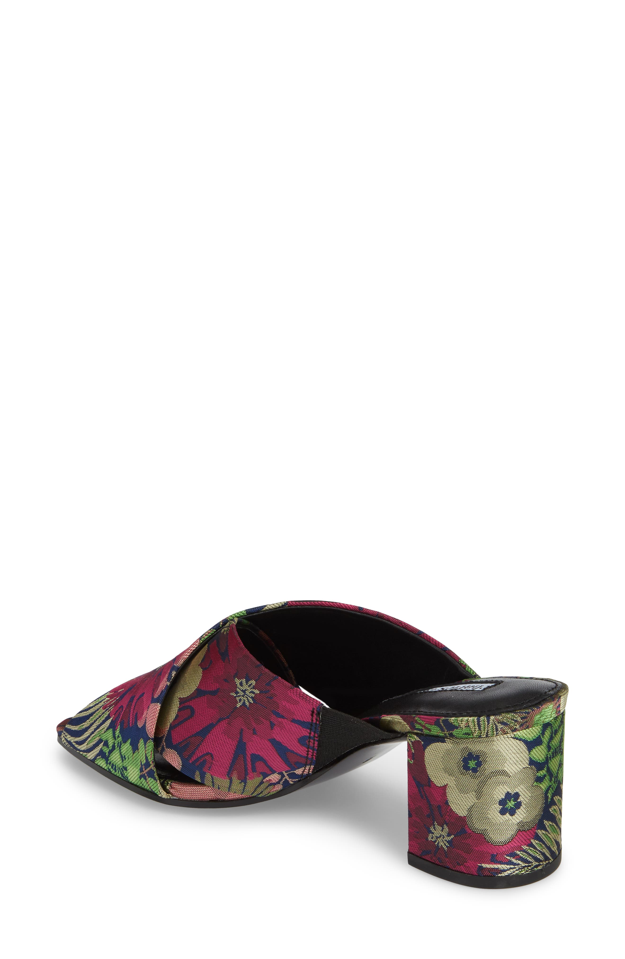 Crissaly Slide Sandal,                             Alternate thumbnail 2, color,                             Green Multi Floral Fabric