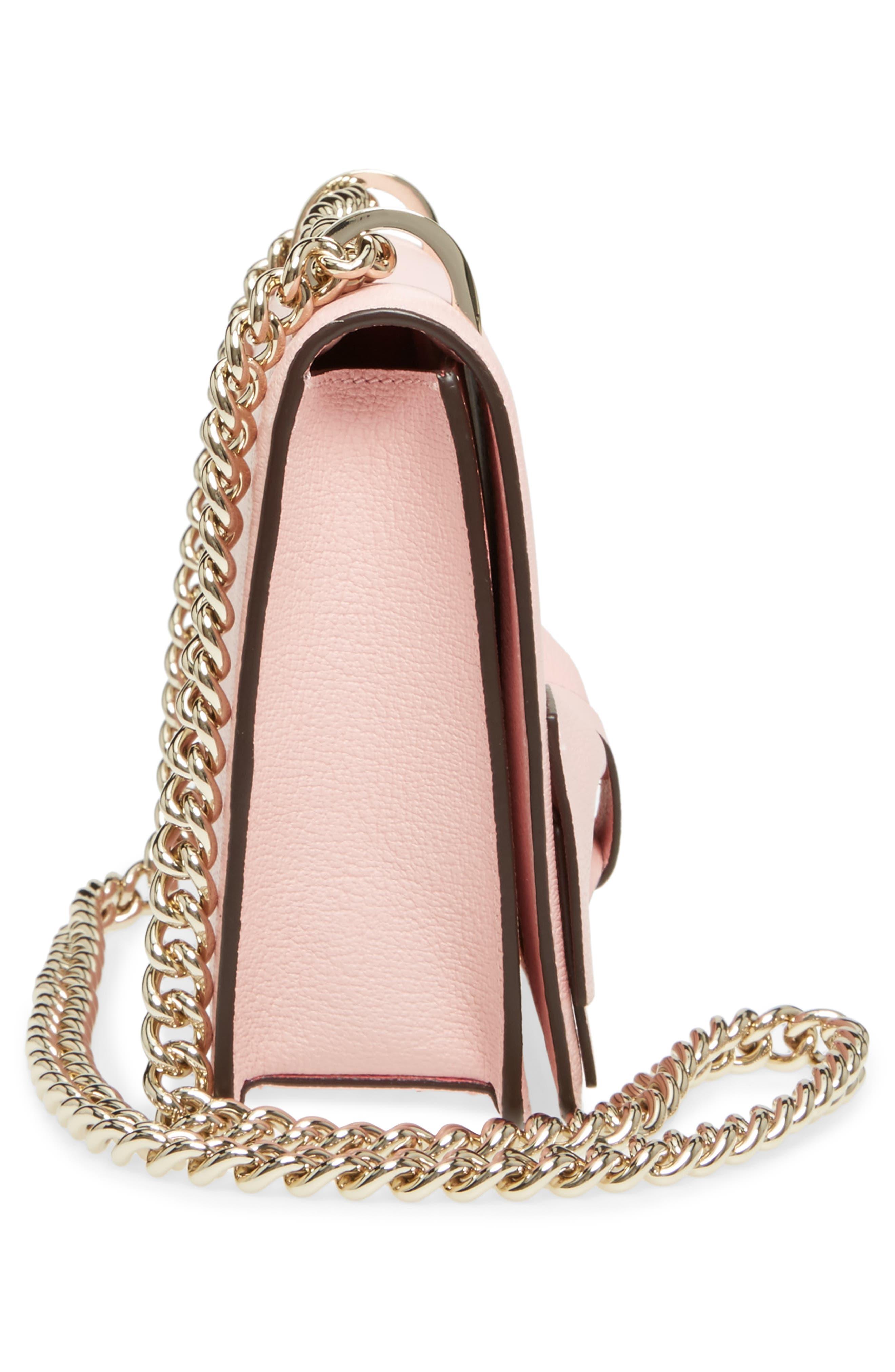 olive drive - marci leather shoulder bag,                             Alternate thumbnail 5, color,                             Rose Jade