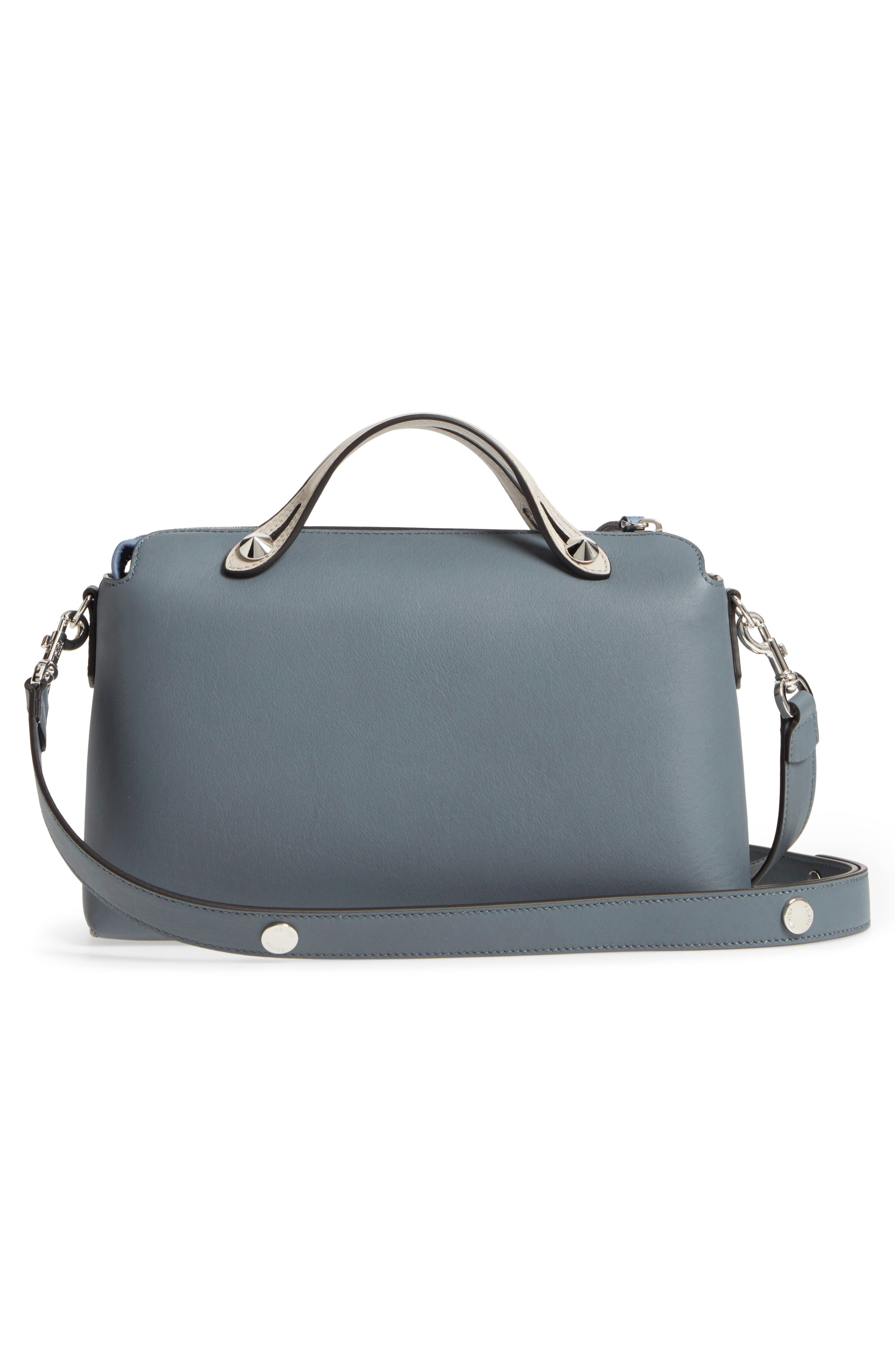 'Medium By the Way' Colorblock Leather Shoulder Bag,                             Alternate thumbnail 3, color,                             Blue