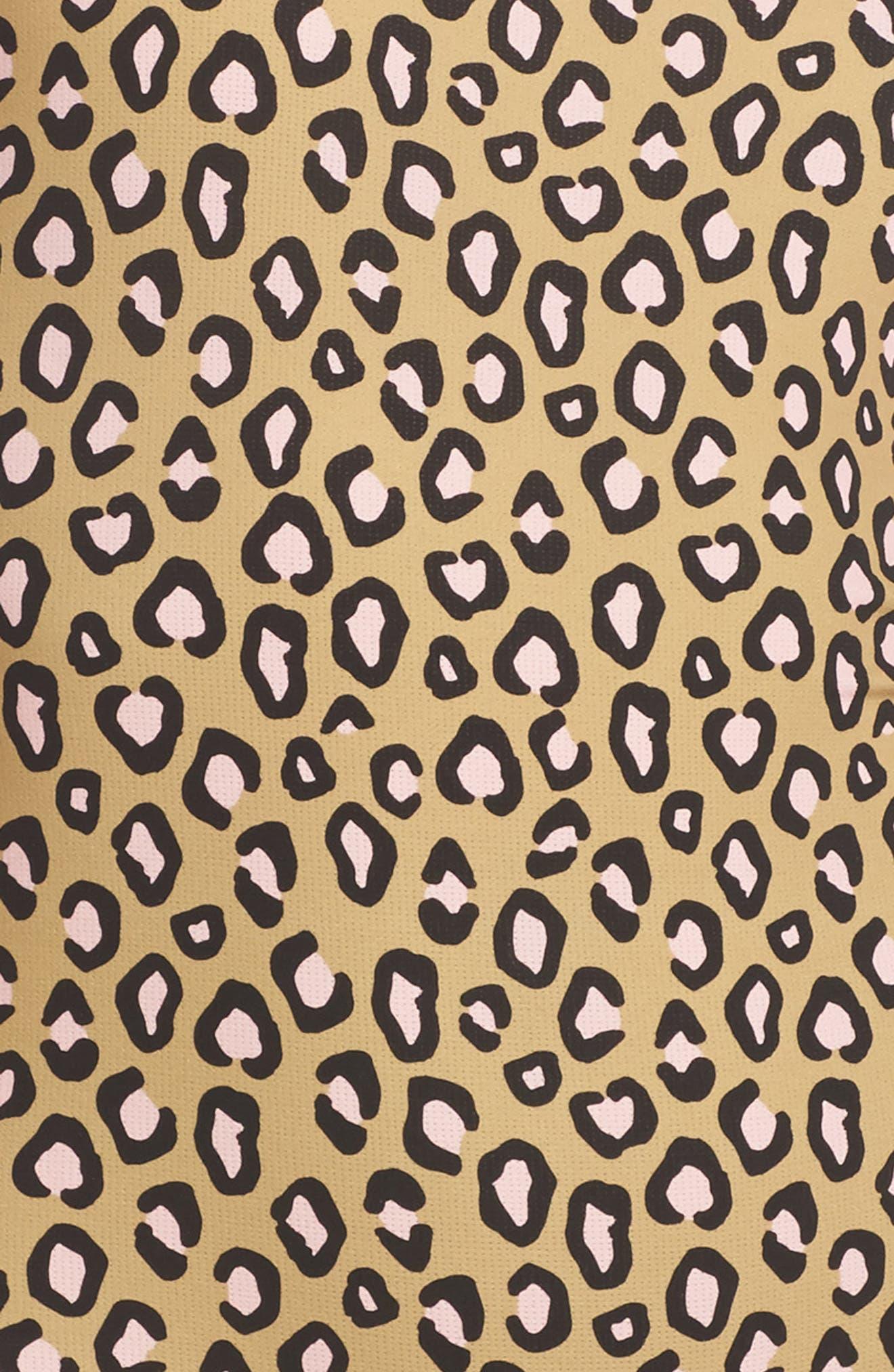 Feline Bodysuit,                             Alternate thumbnail 6, color,                             Beige Multi
