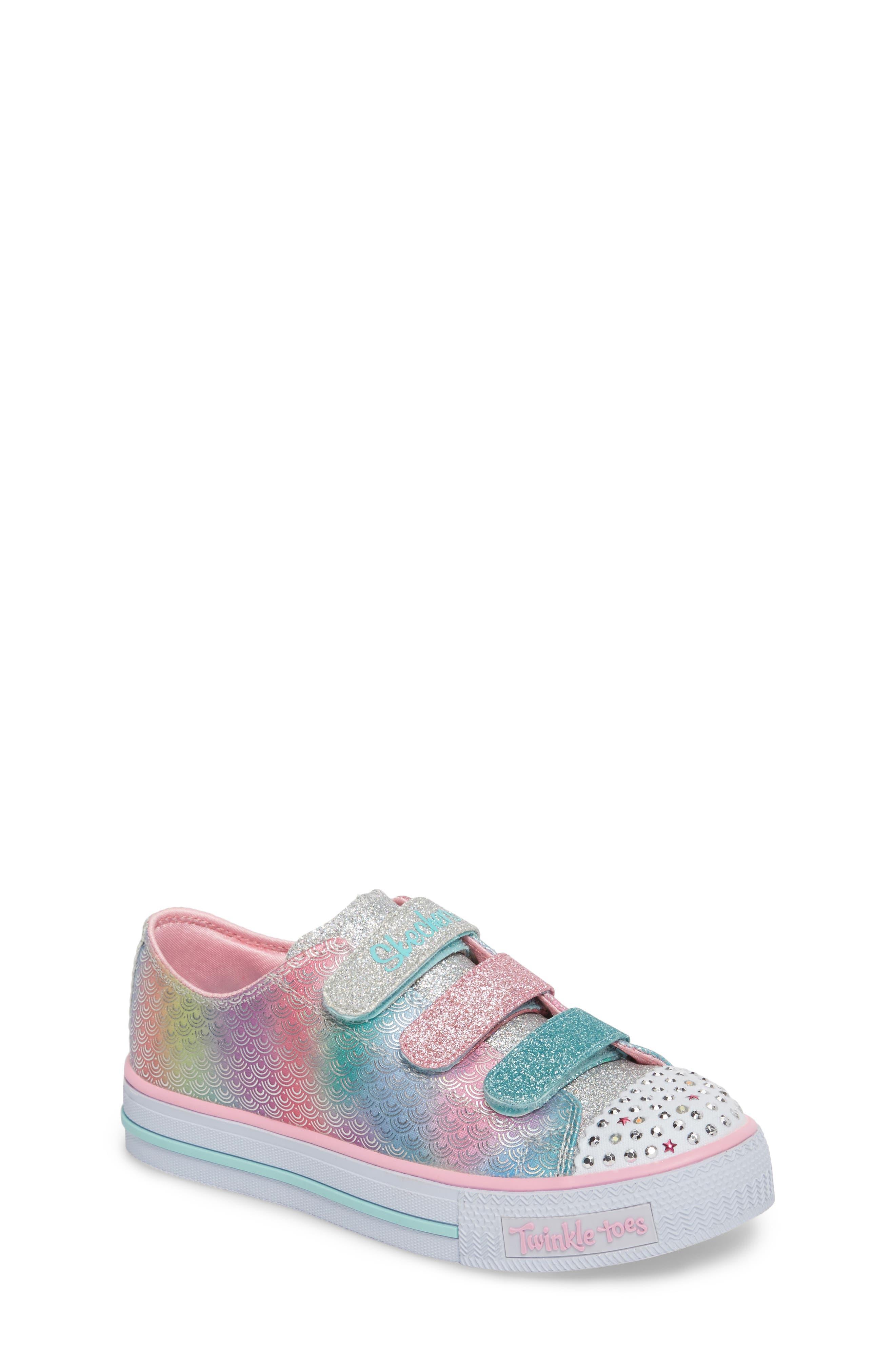 SKECHERS Twinkle Toes Shuffles Glitter Light-Up Sneaker (Toddler, Little Kid & Big Kid)