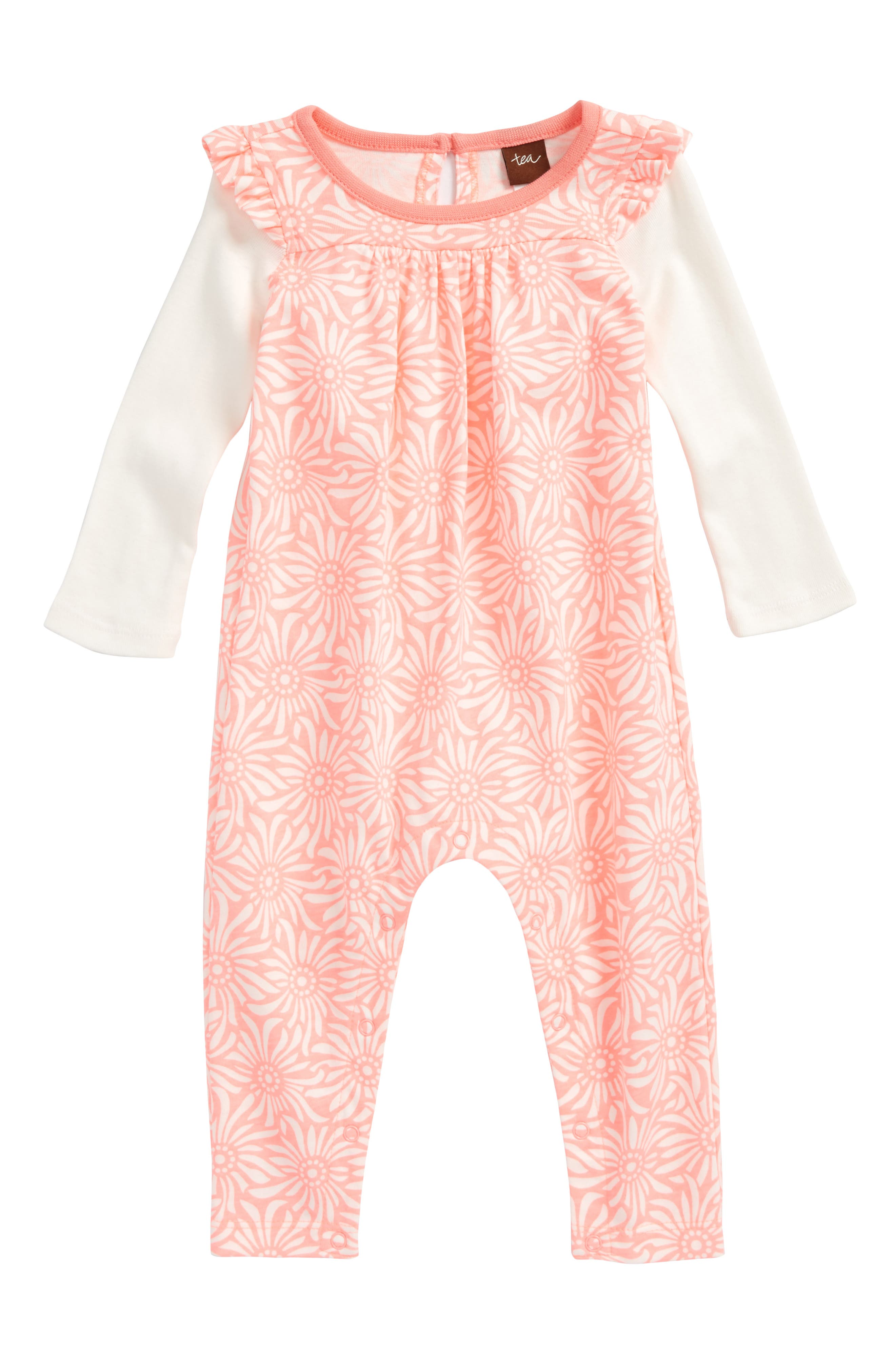 Tea Collection Daisy Field Romper (Baby Girls)