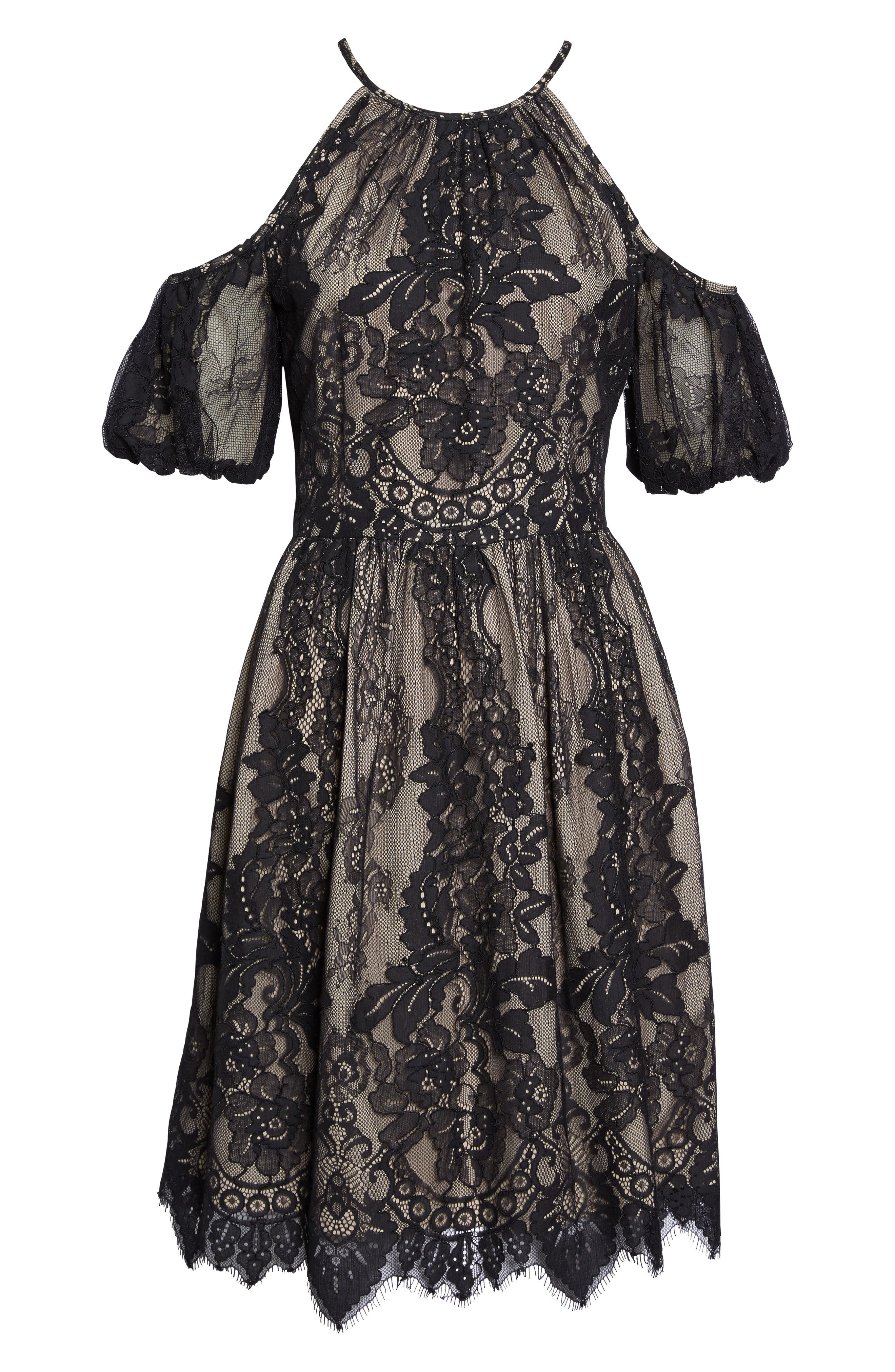 Alternate Image 6  - Maggy London Cold Shoulder Lace Dress