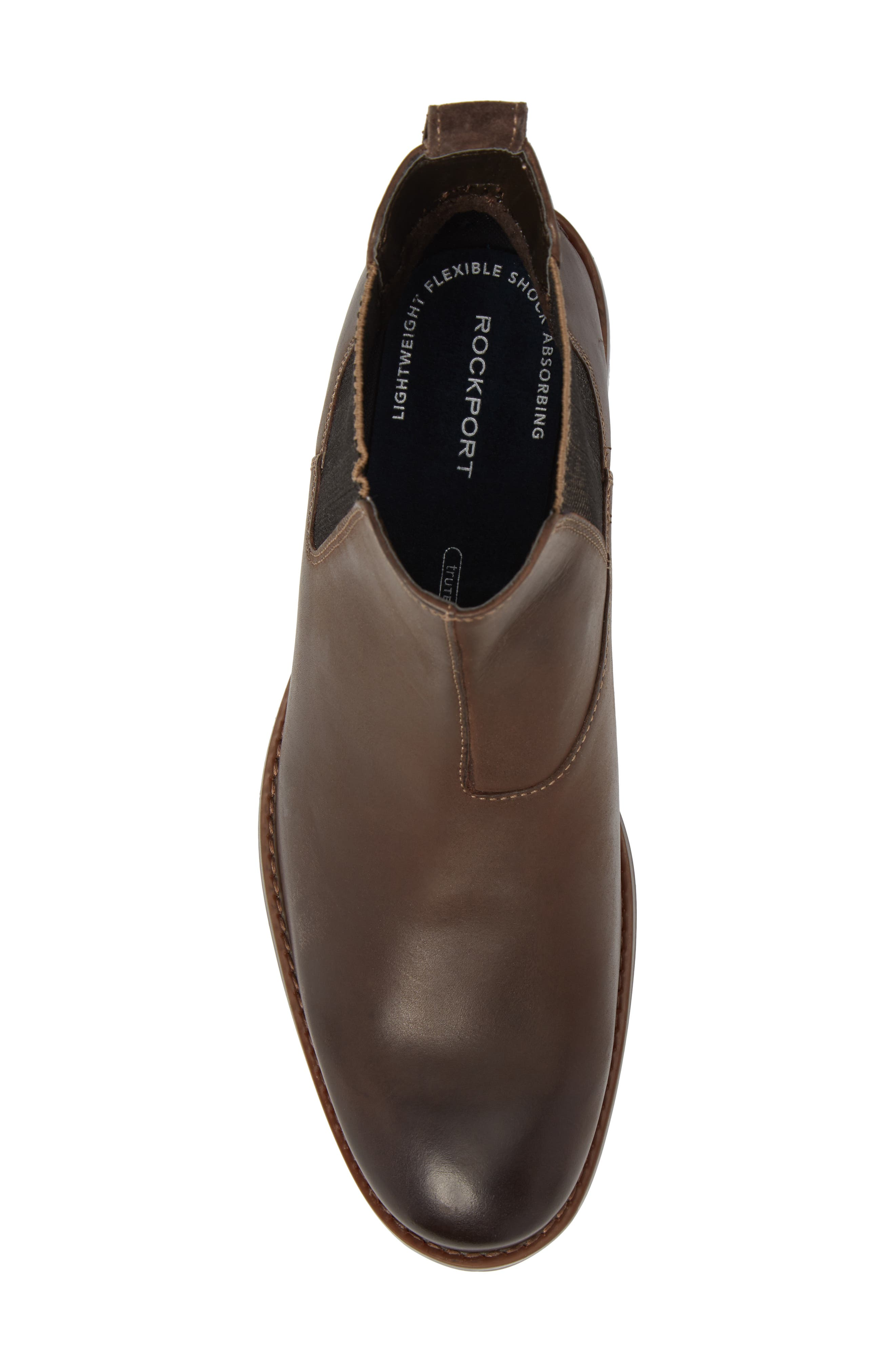 Wynstin Chelsea Boot,                             Alternate thumbnail 5, color,                             Dark Bitter Chocolate Leather