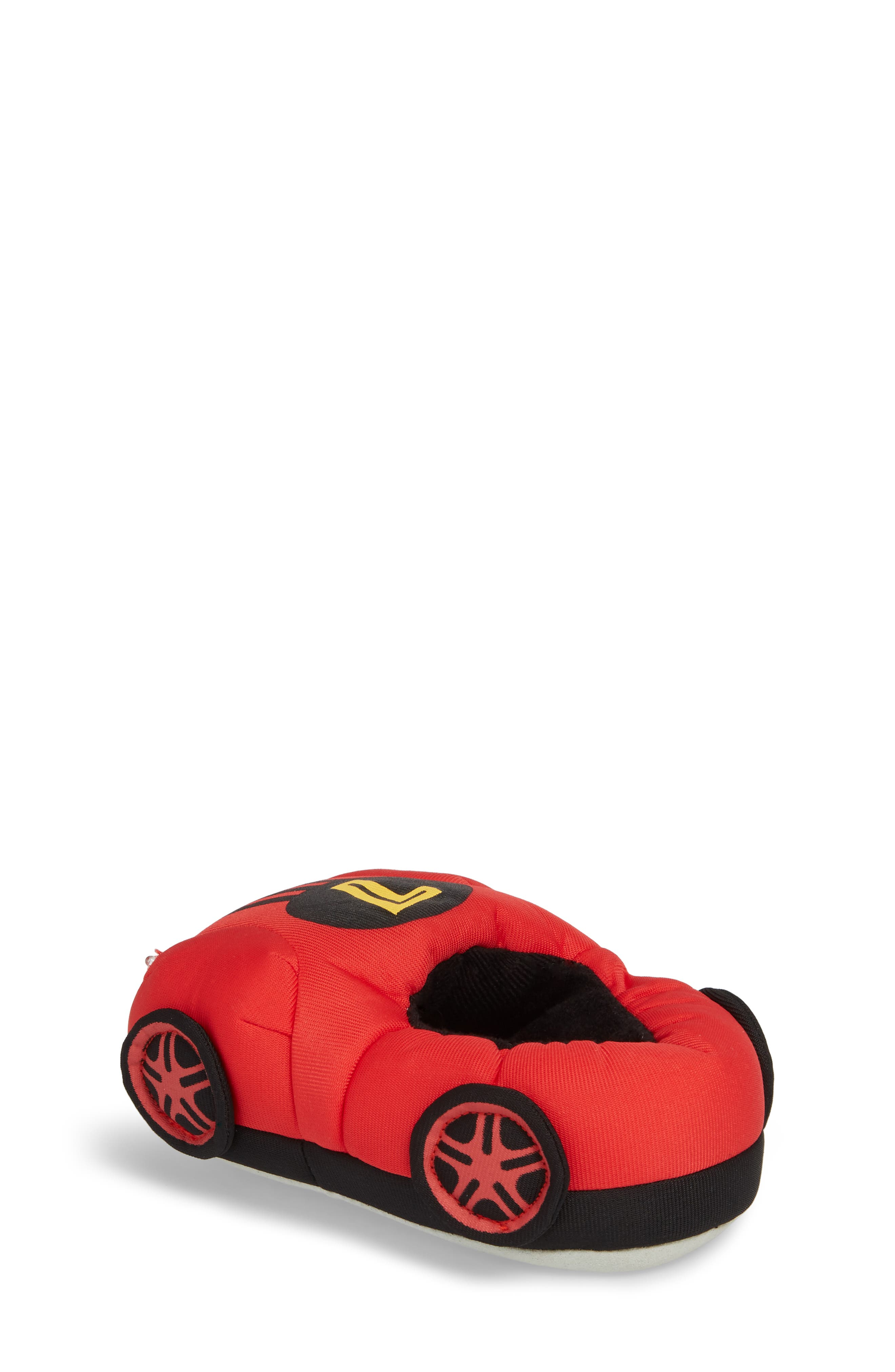 Light-Up Race Car Slipper,                             Alternate thumbnail 2, color,                             Red