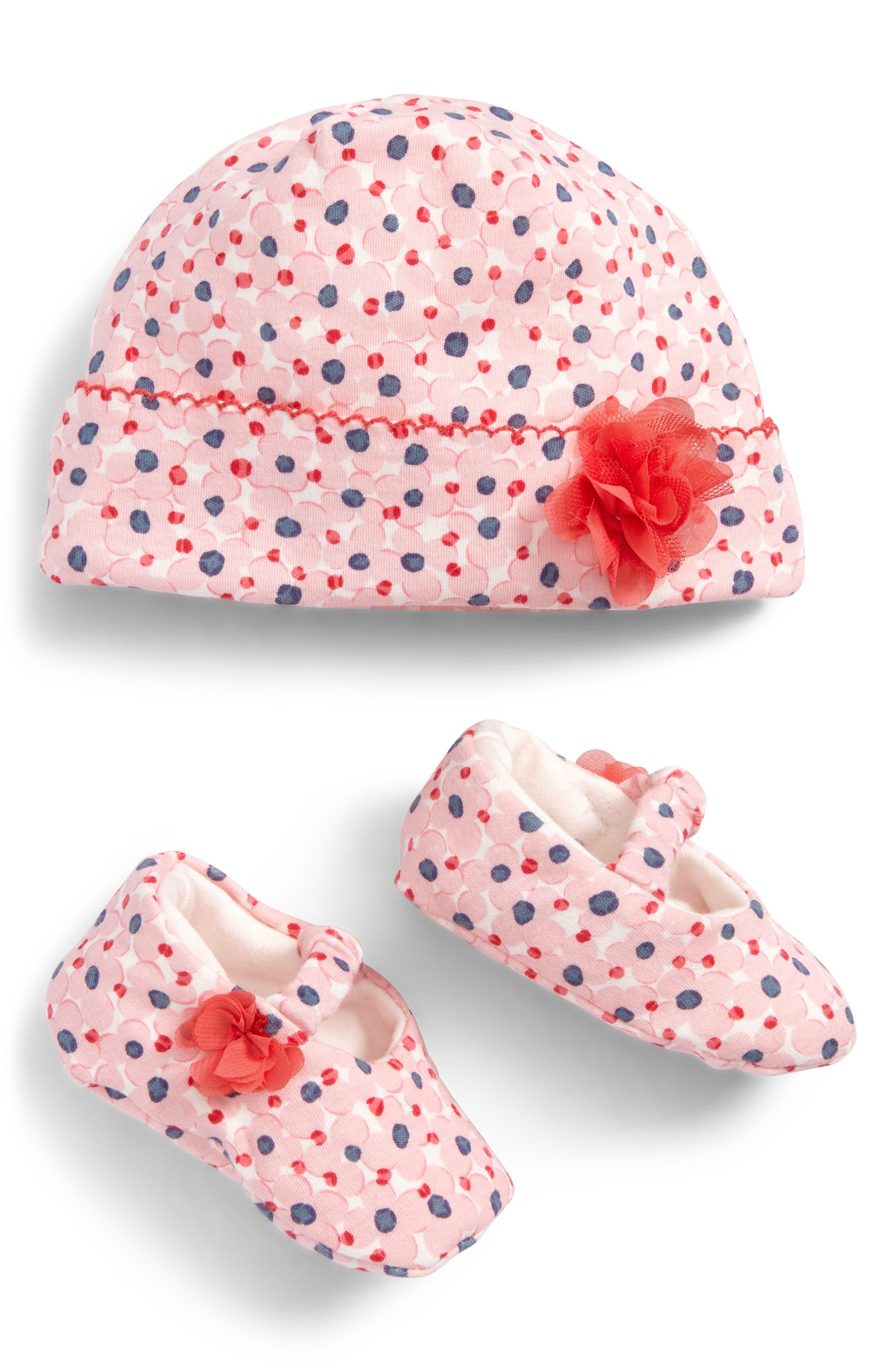 kate spade new york floral cap & shoe gift set (Baby Girls)