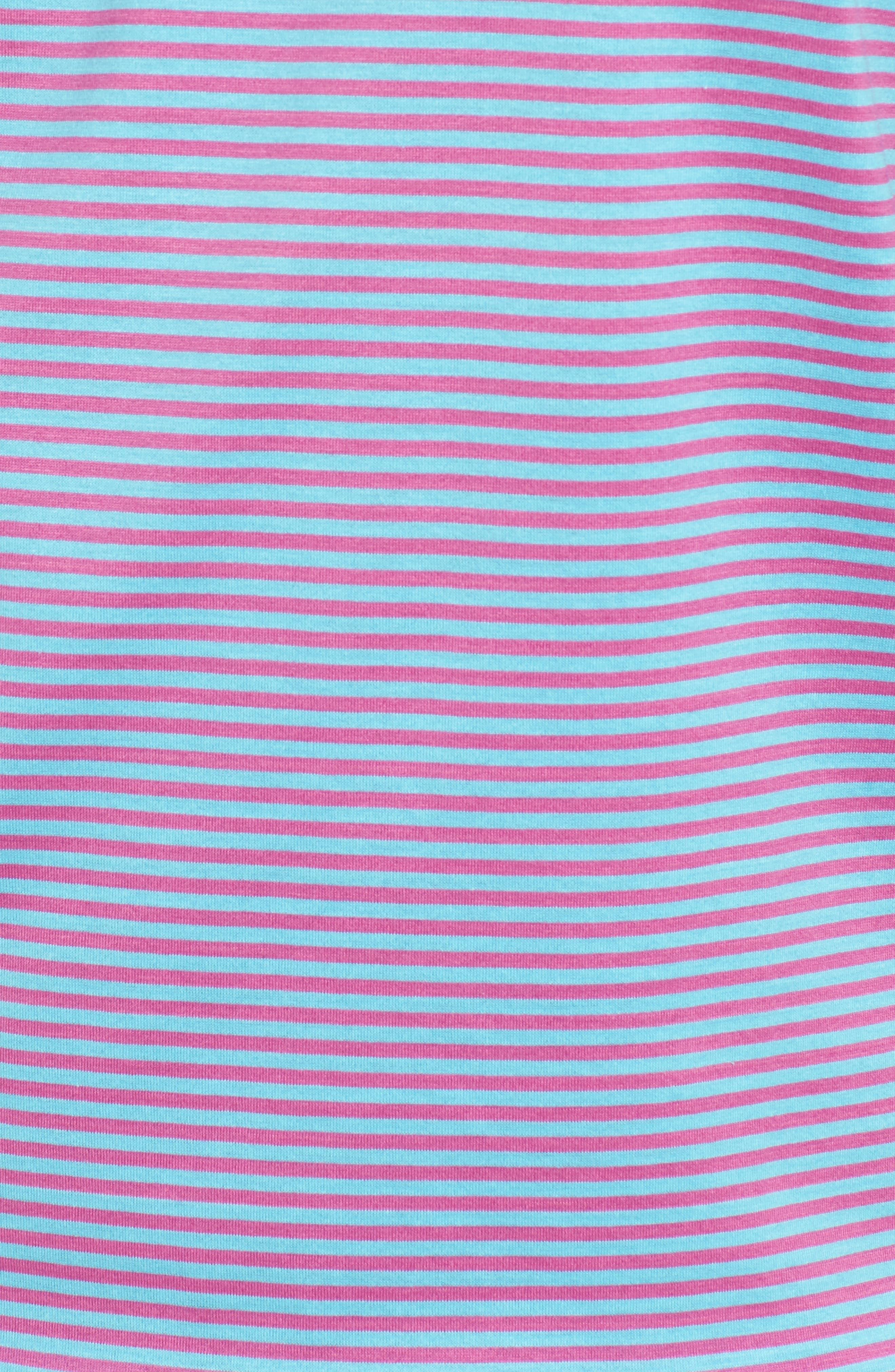 Sean Stripe Nanoluxe Polo,                             Alternate thumbnail 5, color,                             Seasalt/ Urchin