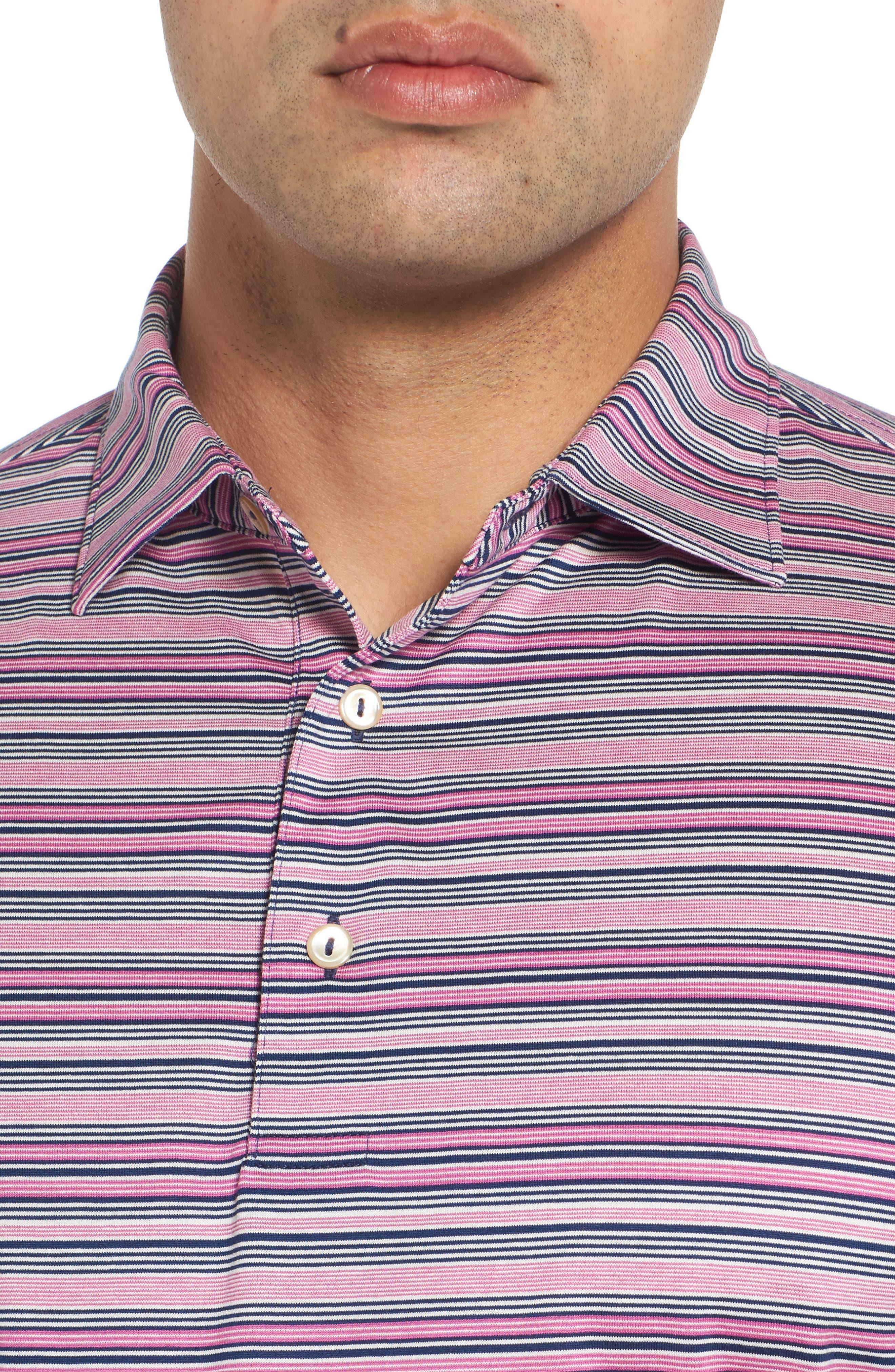 Sean Hanover Stripe Polo,                             Alternate thumbnail 4, color,                             Barrier Blue