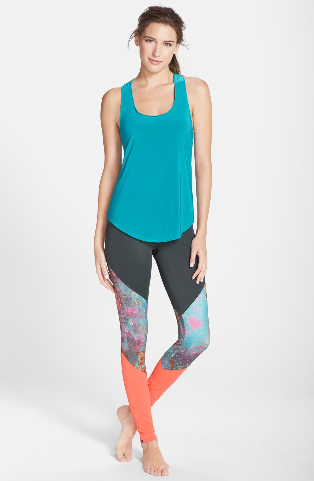 Alternate Image 3  - Onzie Colorblock Track Leggings