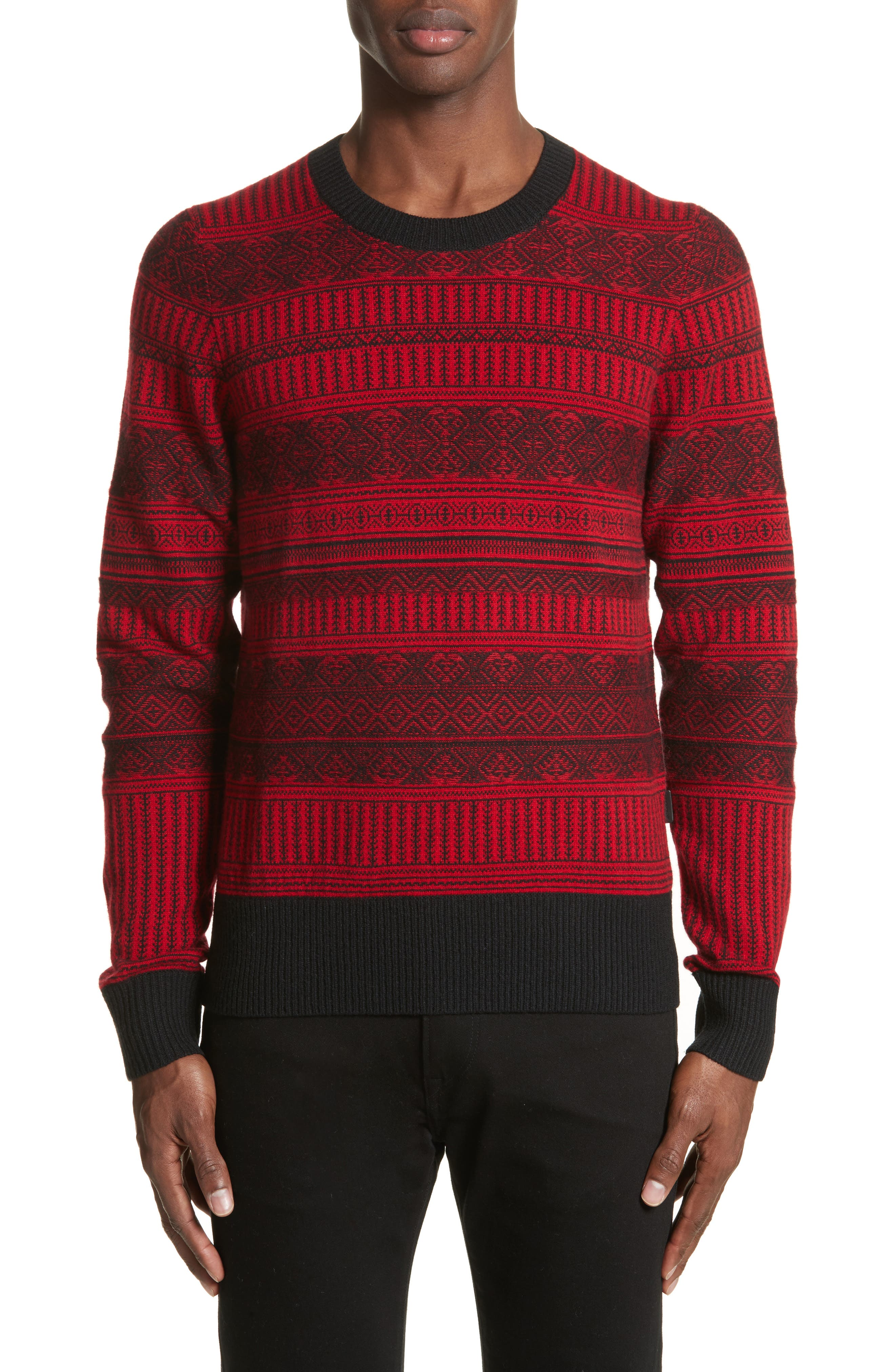 Tredway Wool & Cashmere Sweater,                             Main thumbnail 1, color,                             Military Red