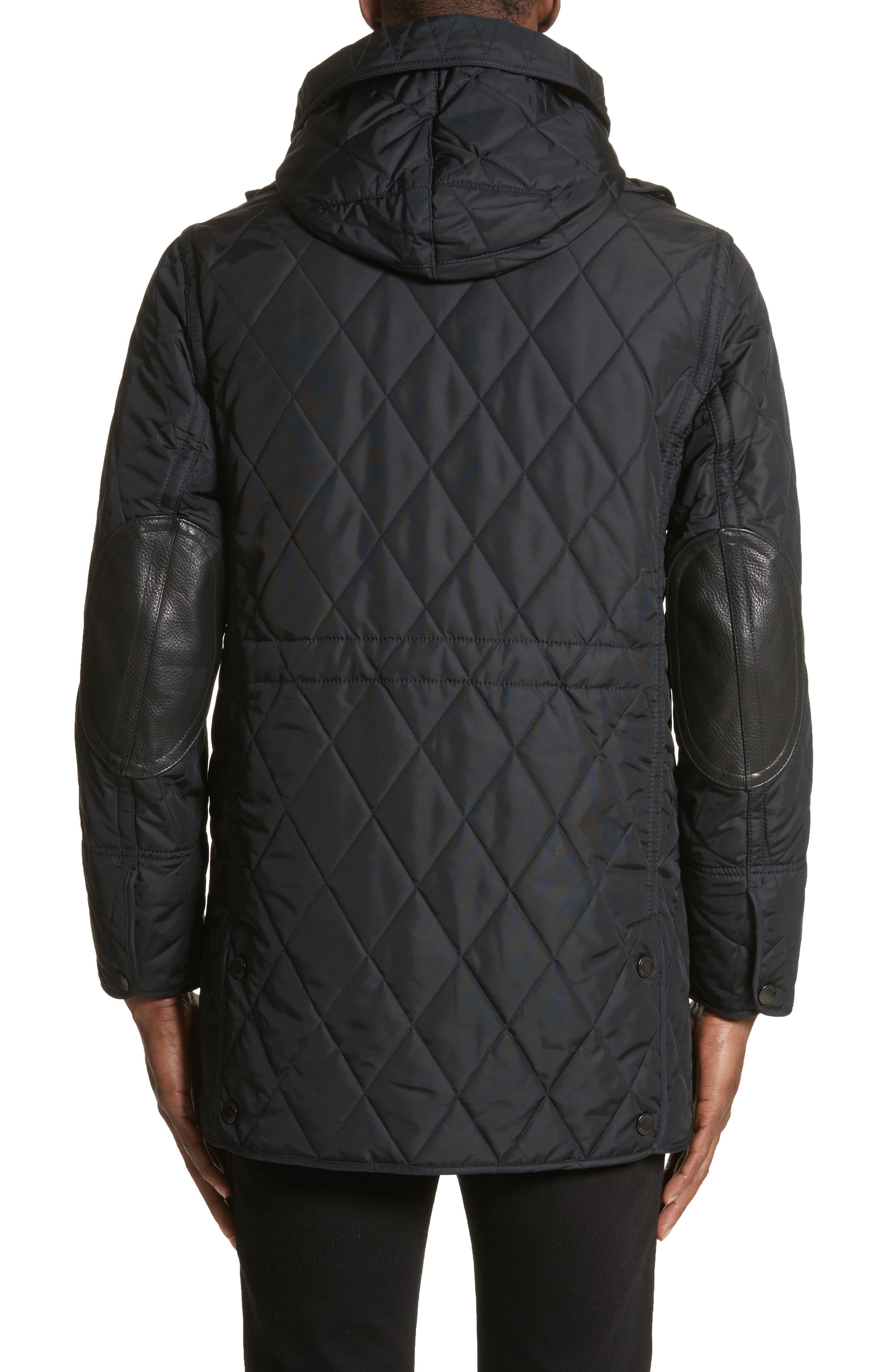 Northumberland Quilted Barn Jacket,                             Alternate thumbnail 2, color,                             Navy