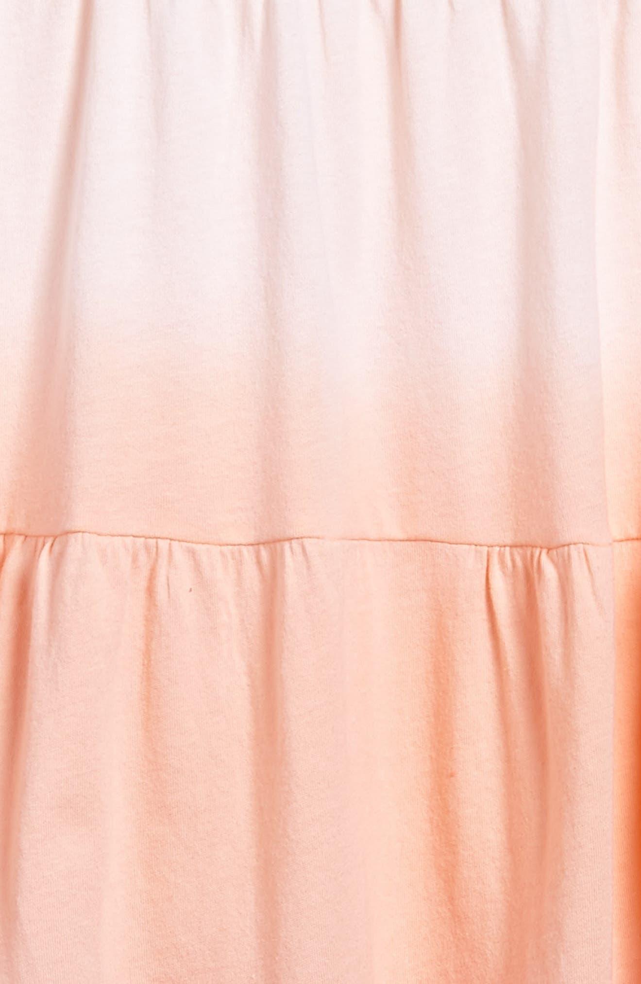 Dip Dye Organic Cotton Dress,                             Alternate thumbnail 3, color,                             Cactus Bloom