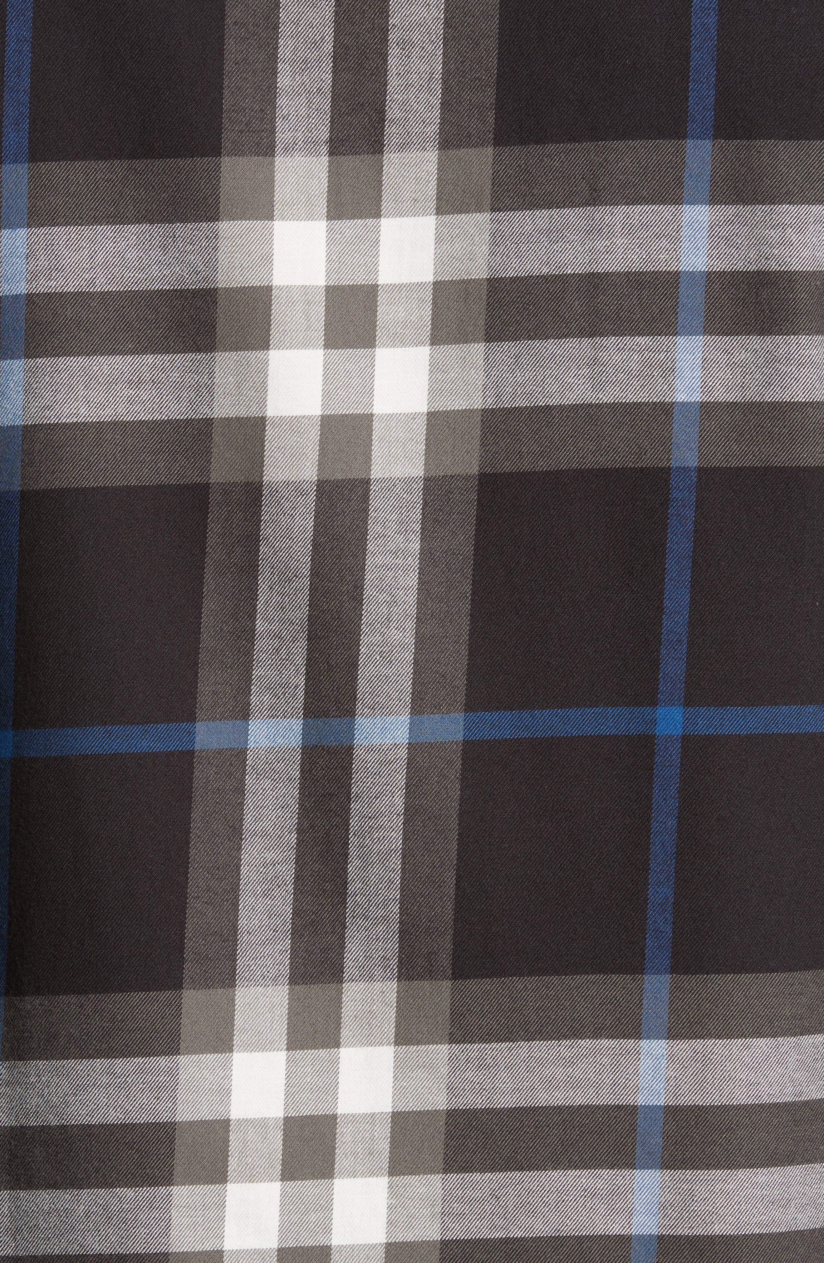 Salwick Slim Fit Sport Shirt,                             Alternate thumbnail 5, color,                             Black
