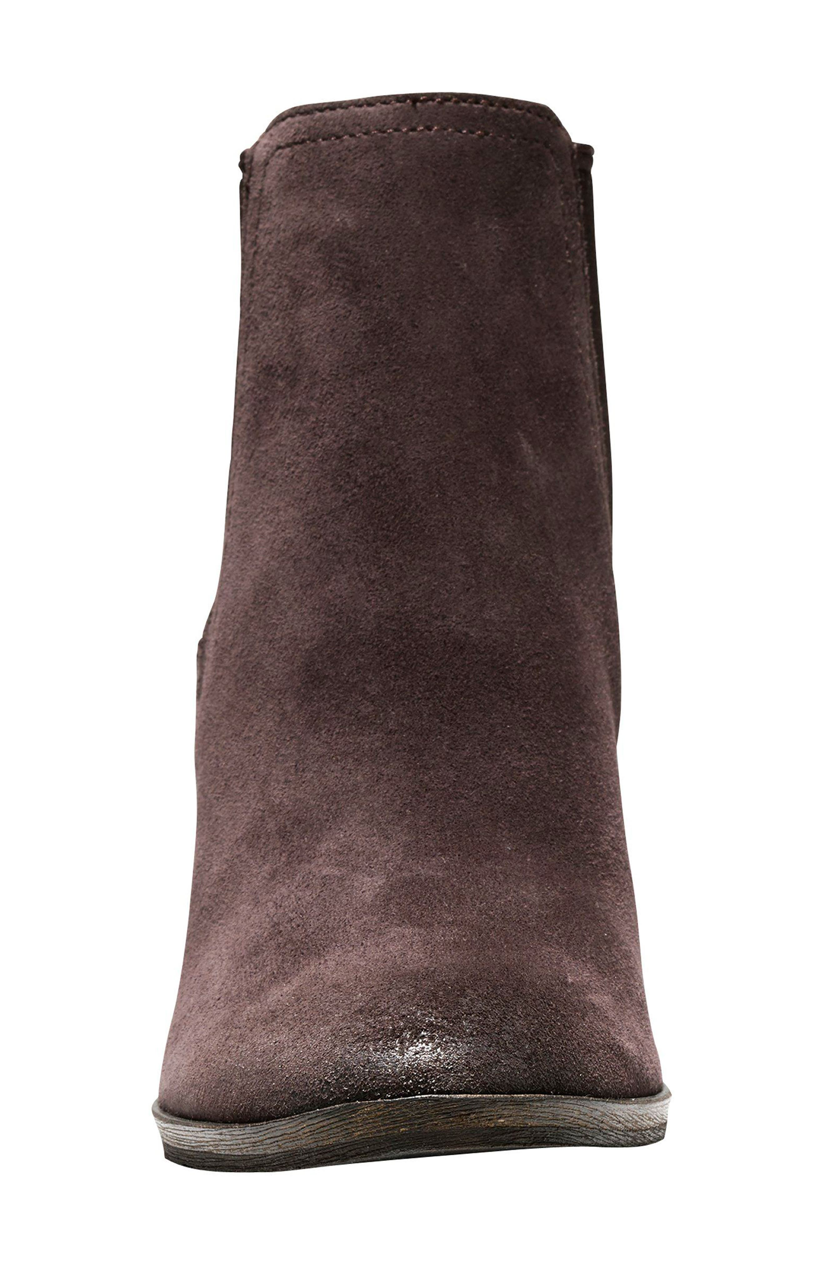 Hayes Chelsea Boot,                             Alternate thumbnail 4, color,                             Java Suede