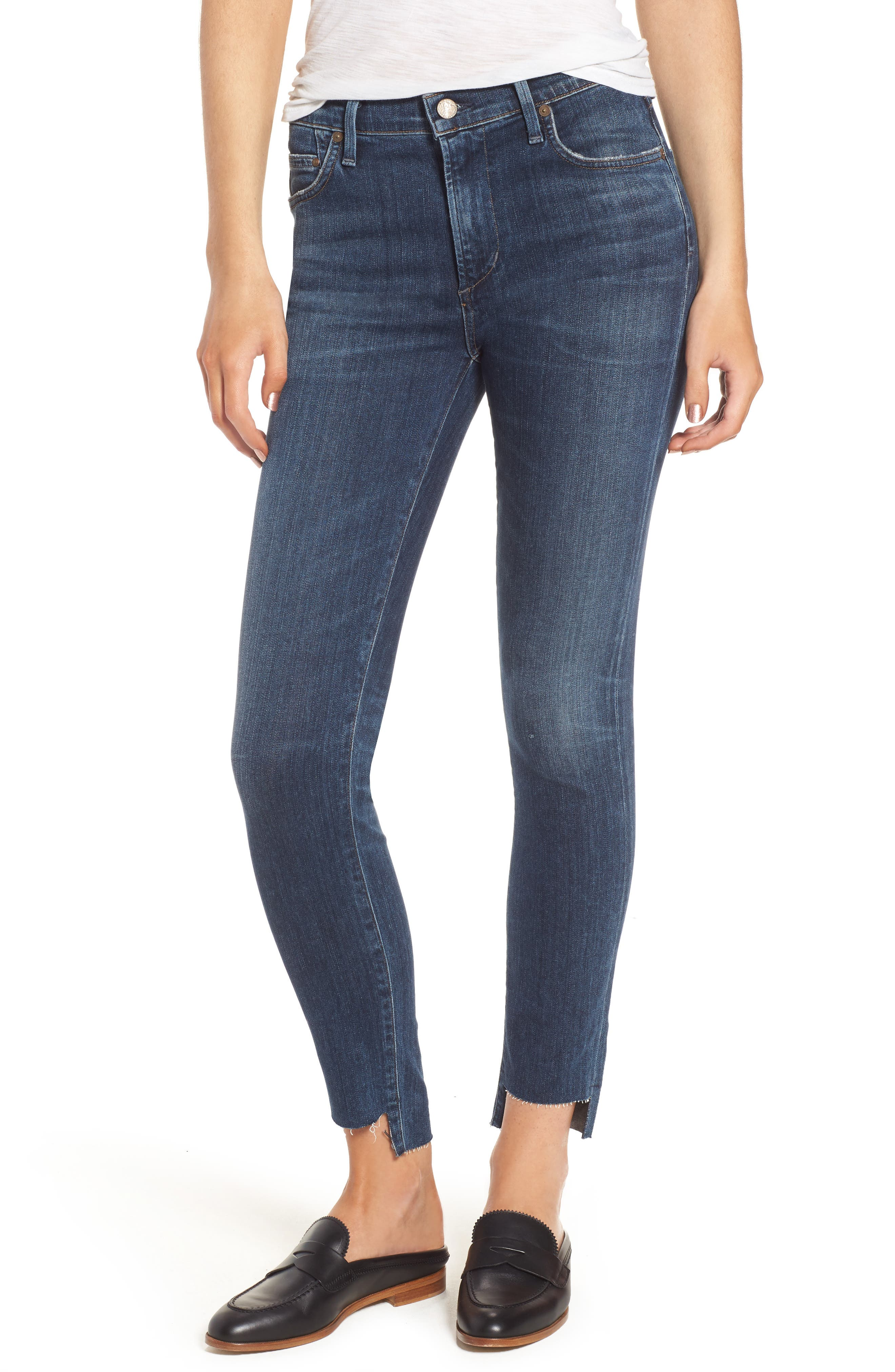 Alternate Image 1 Selected - Citizens of Humanity Rocket Step Hem Skinny Jeans (Palmilla)