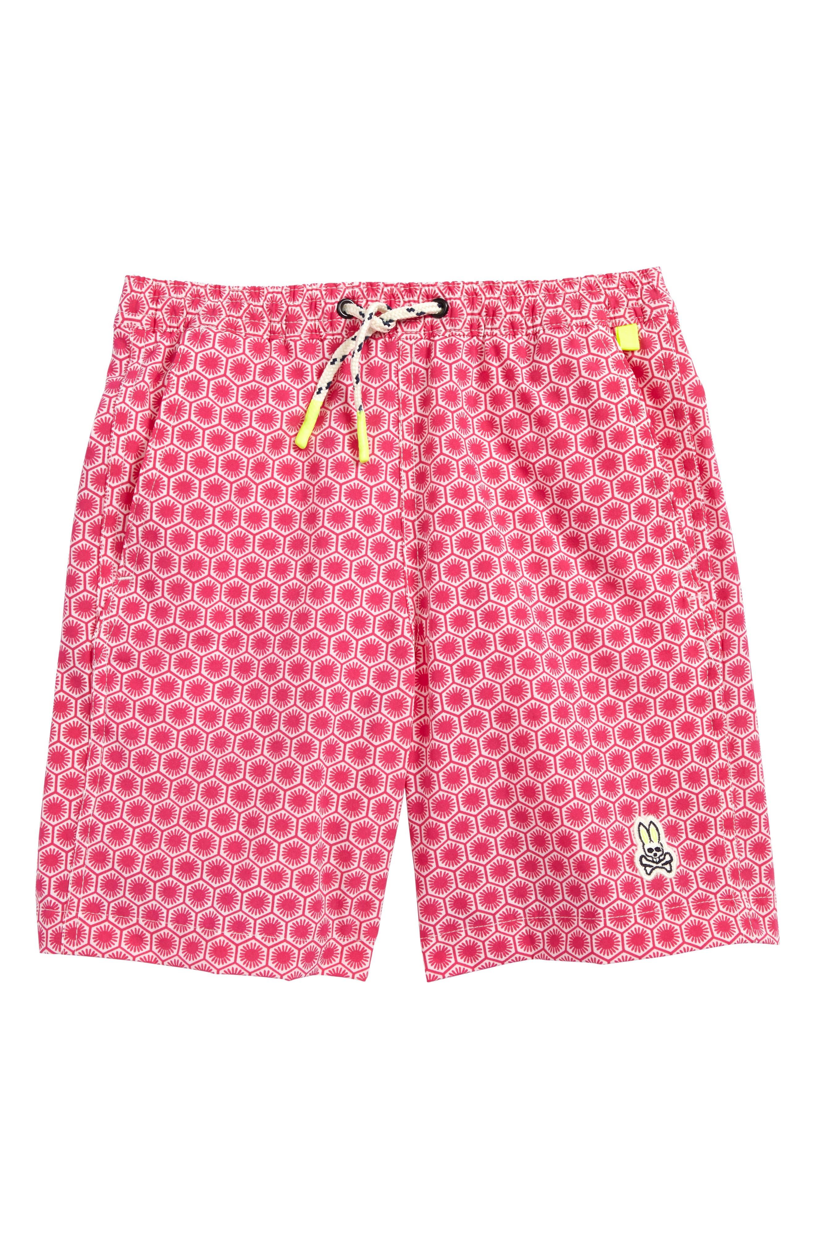Main Image - Psycho Bunny Honeycomb Board Shorts (Little Boys & Big Boys)